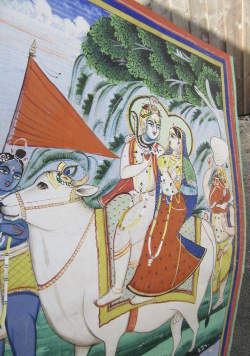 The Holy Family Of Shiva Parvati Ganesha And Kartikeya