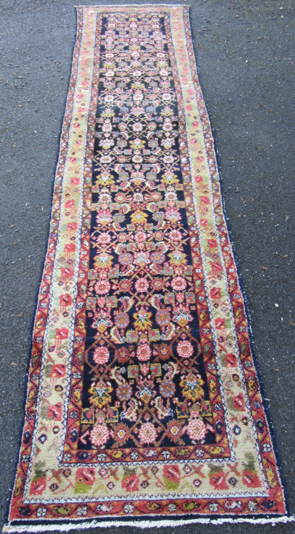 a beautifully attractive antique north west persian hamadan runner rug superb range of colours