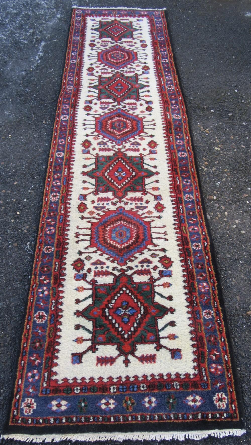 old north west persian karaja meshkin sarab long rug runner lustrous wool pile