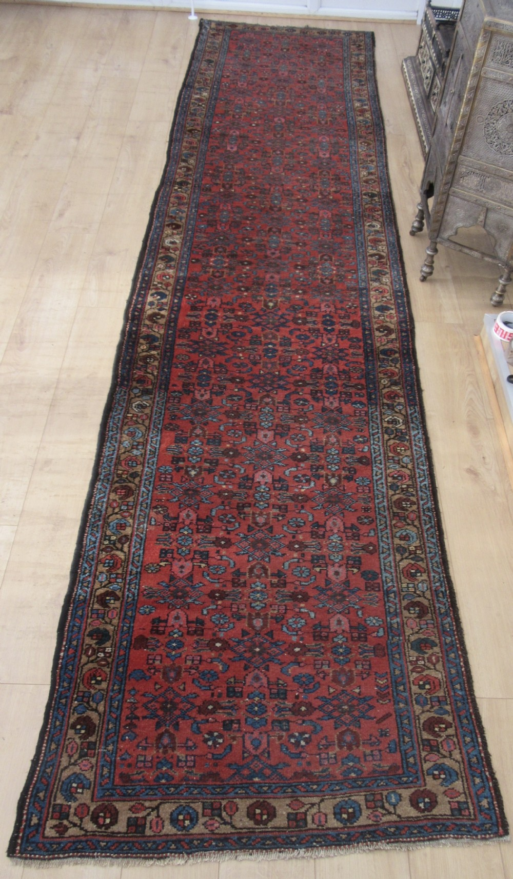 good antique north west persian runner long rug only 100cm wide