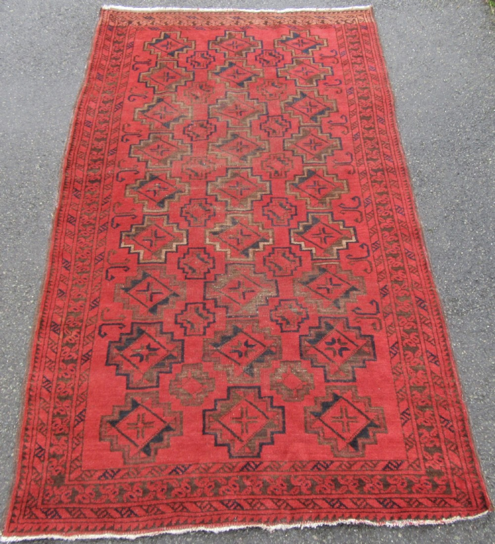 antique country house shabby chic ersari turkmen afghan rug