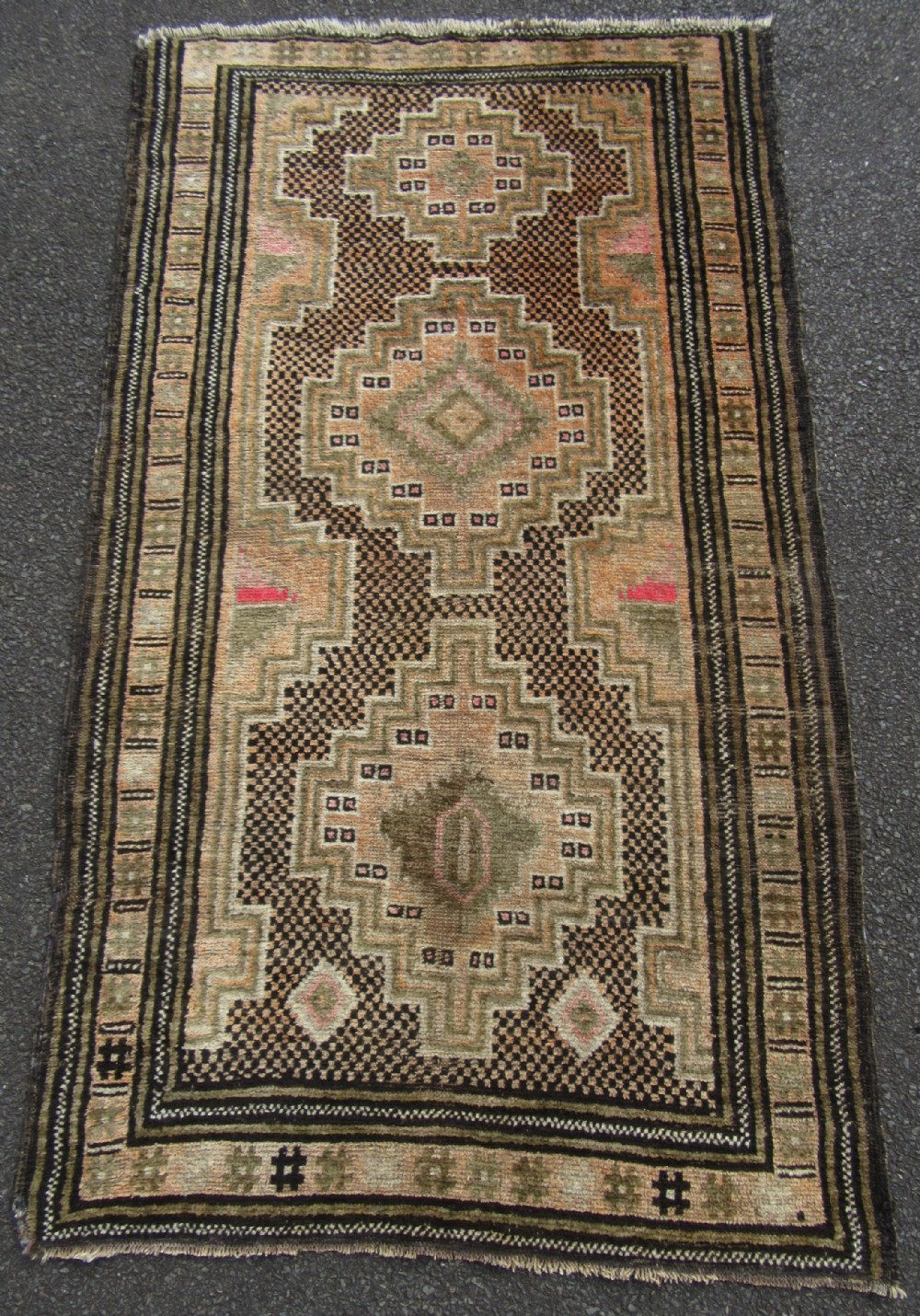 antique shabby chic south west persian fars rug attractively unassuming