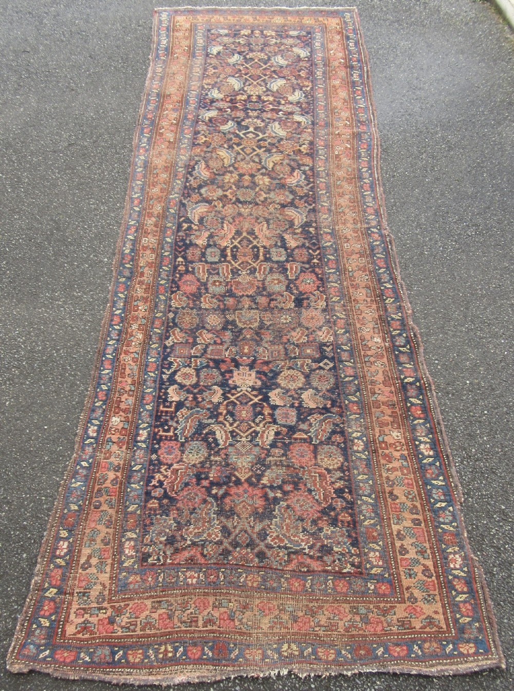 antique country house shabby chic north west persian kurdish long rug runner great country house look