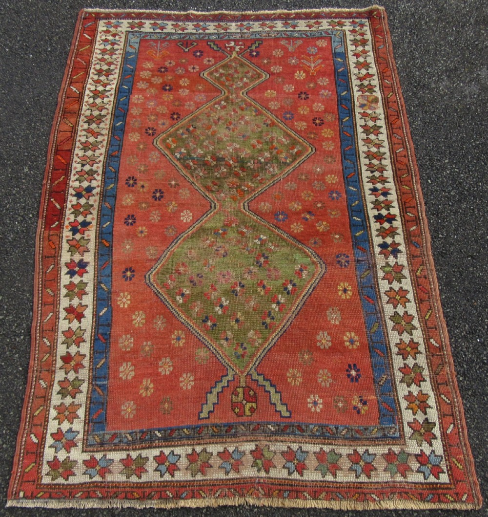 unusual antique country house shabby chic persian kurdish caucasian rug