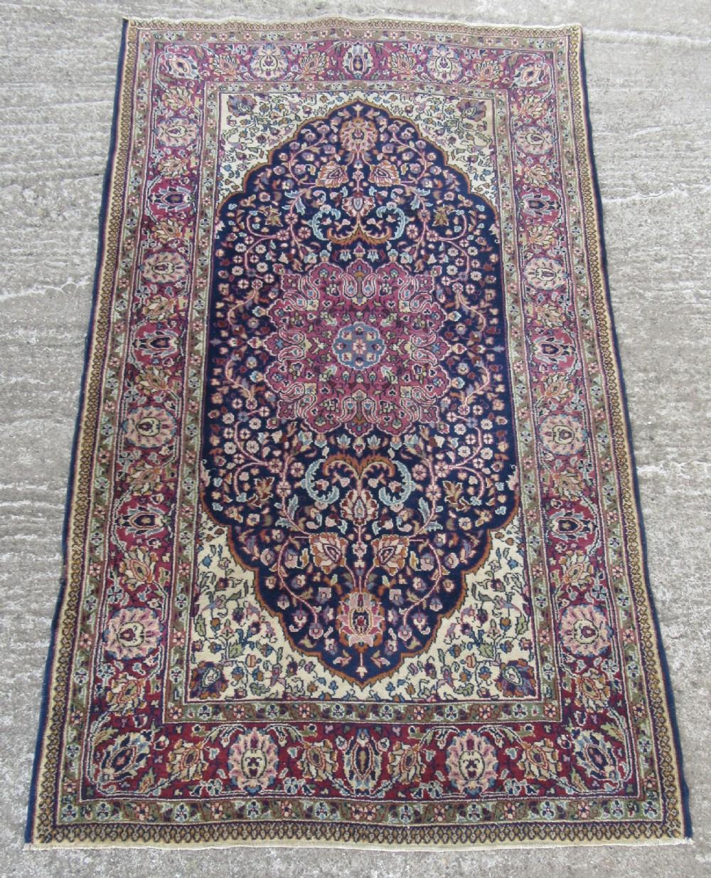 antique indo persian kashan rug antique indian kashan rug