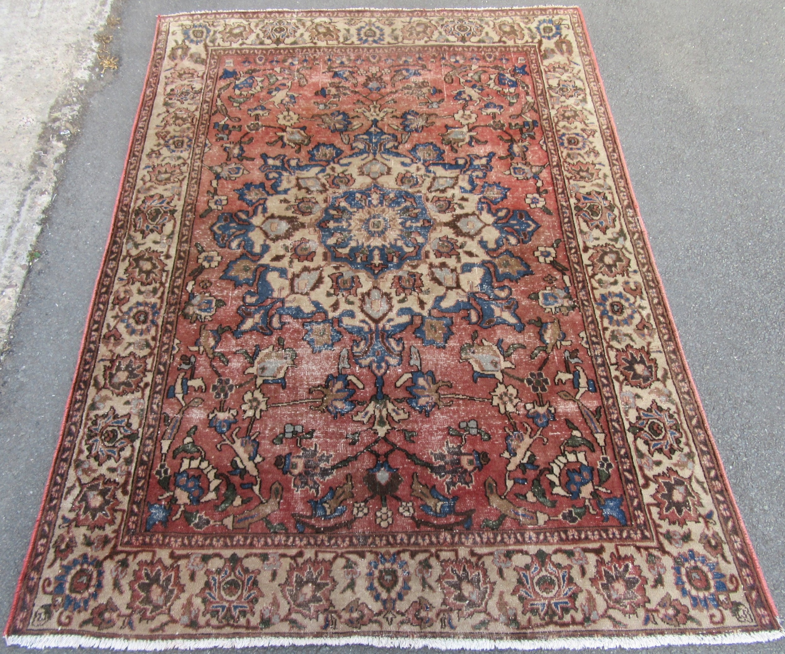 antique country house shabby chic north west persian tabriz village rug superb country house look design