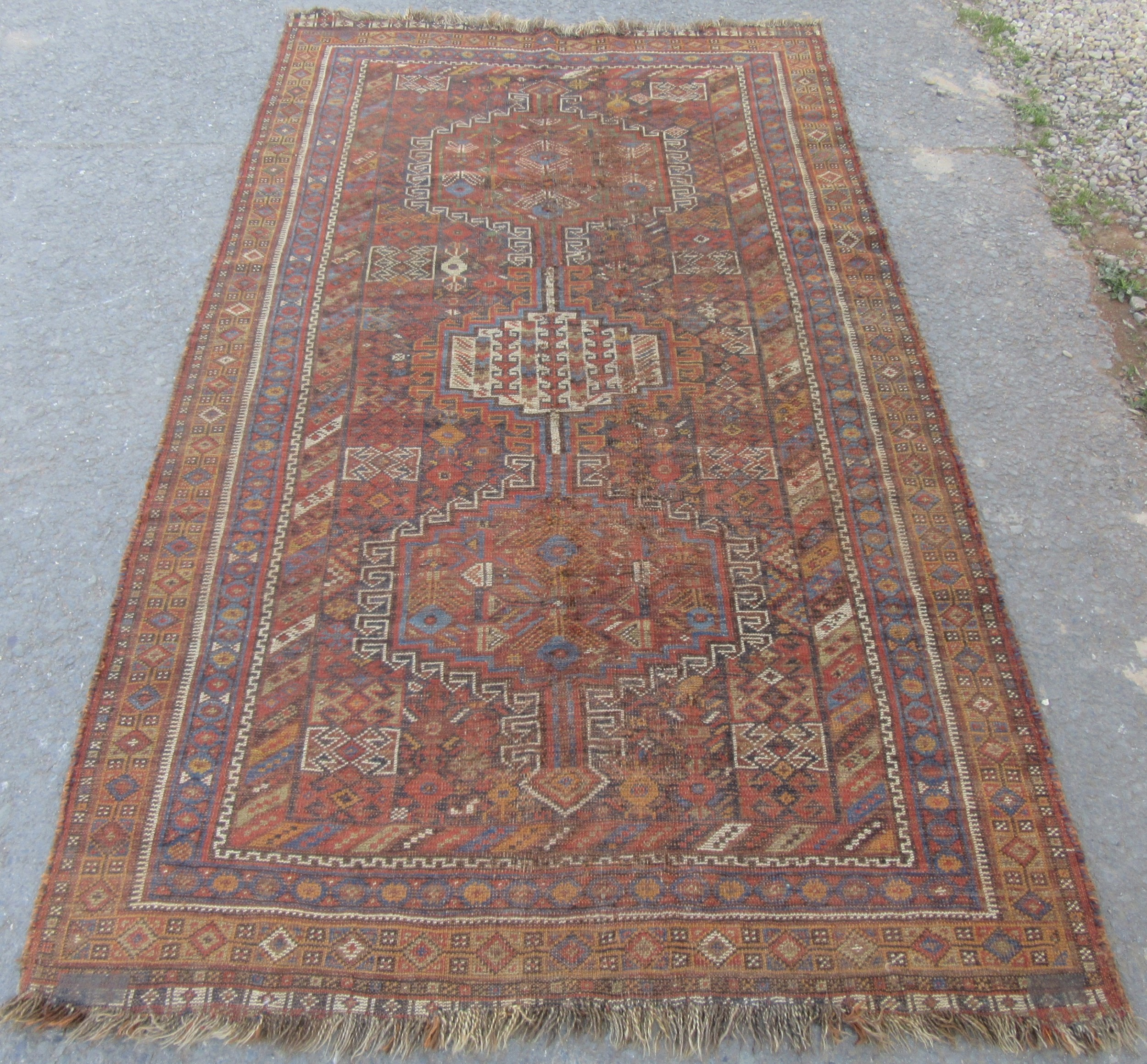 antique country house shabby chic 19th century south west persian arab tribal rug