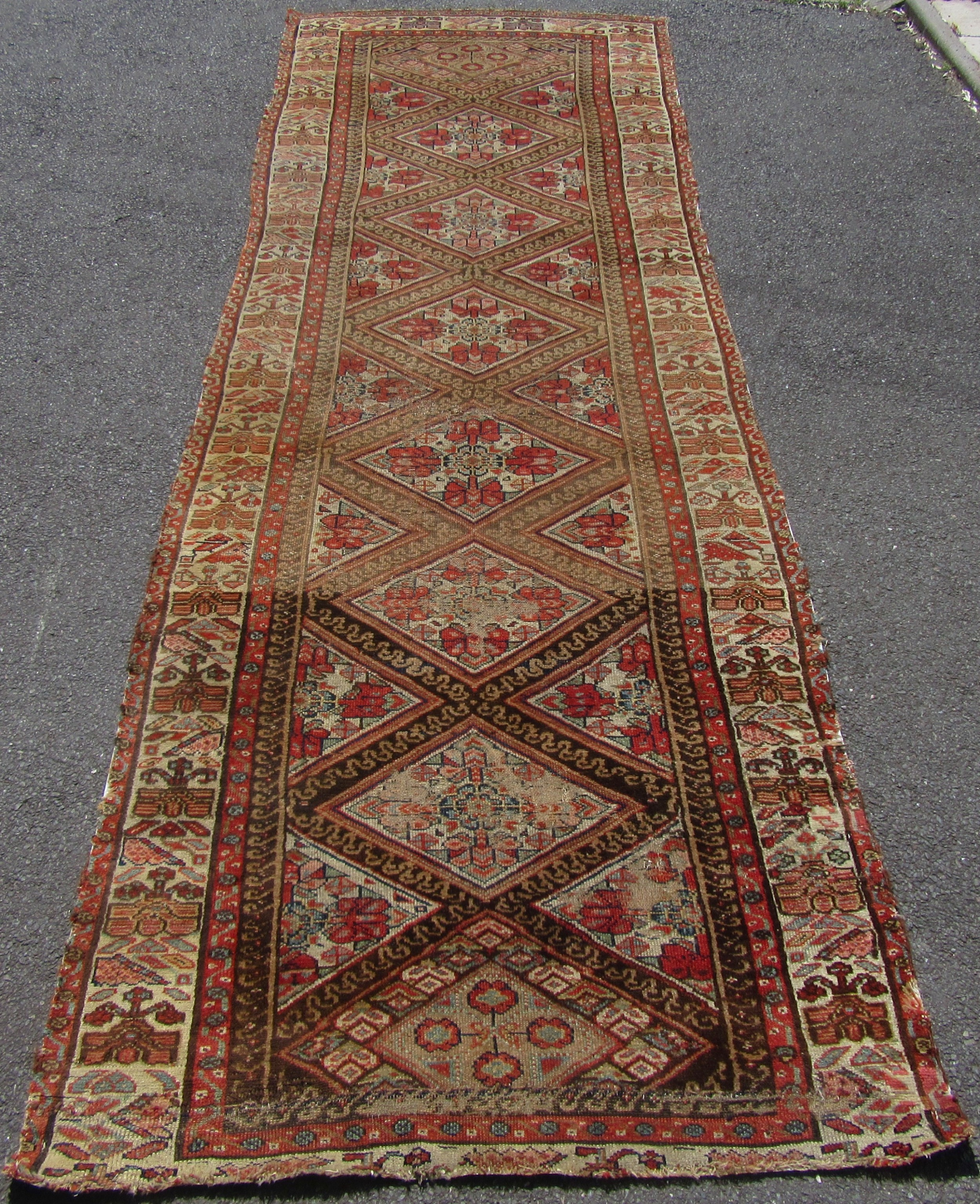 Fabulous Shabby Chic Persian Kurdish Runner Long Rug 624828 Home Interior And Landscaping Fragforummapetitesourisinfo