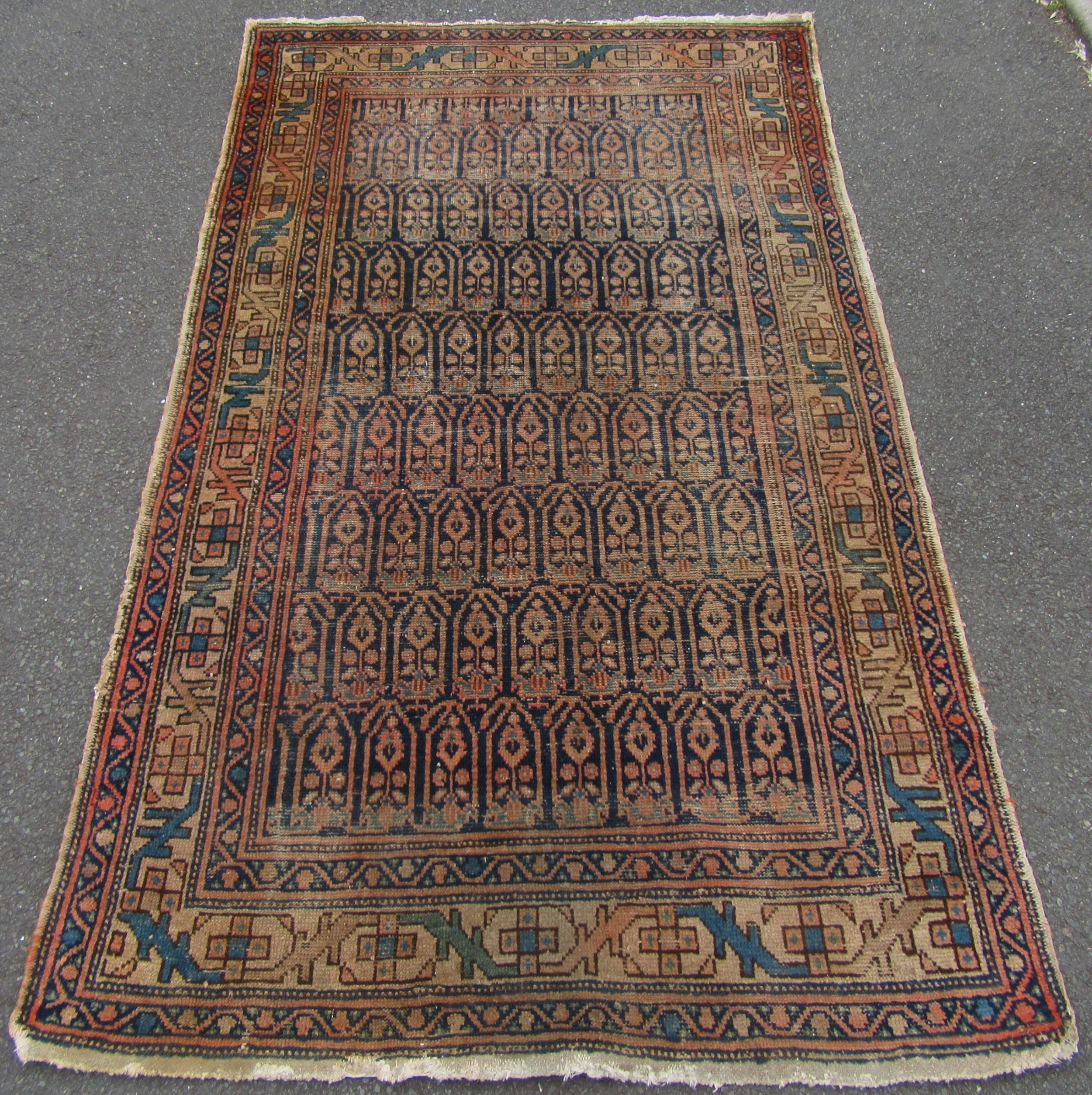 antique country house shabby chic north west persian caucasian boteh rug