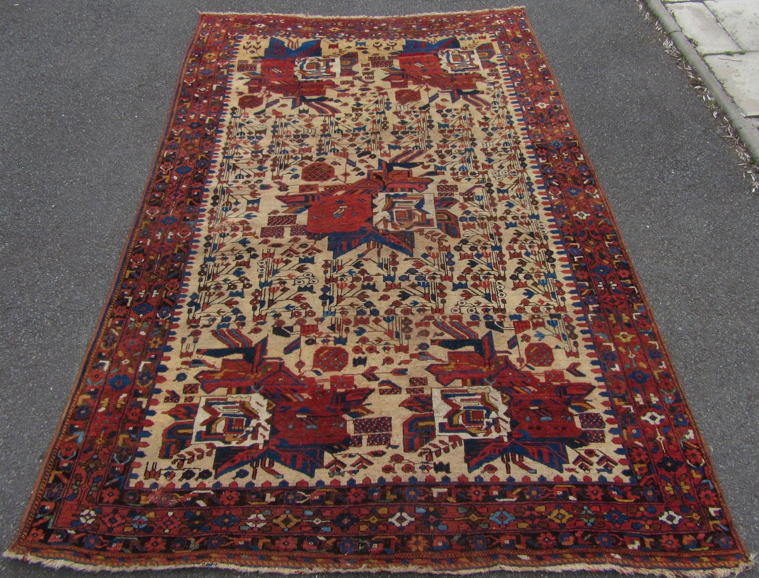 rare pattern antique persian afshar tribal rug scarce design