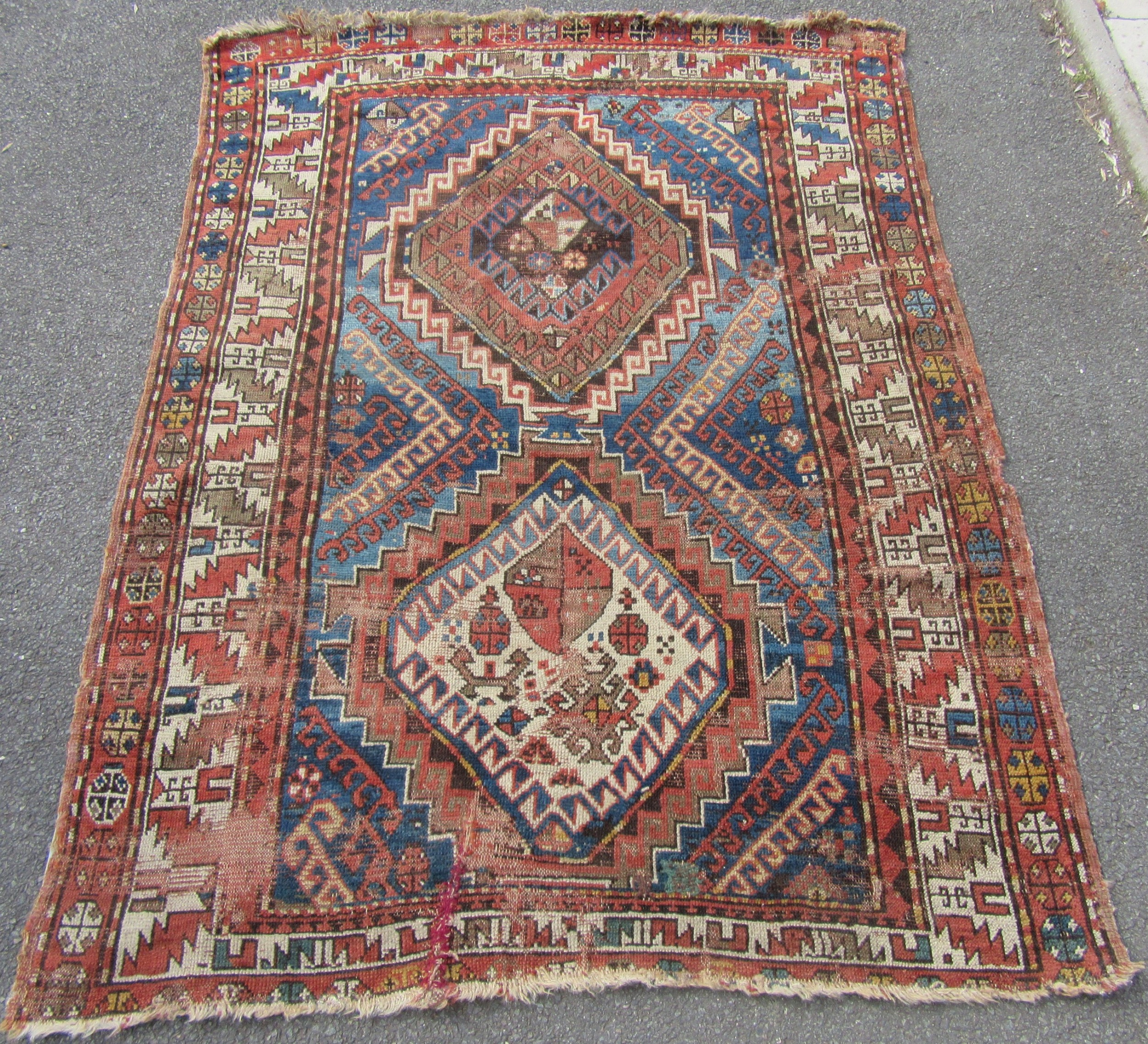 Awesome Antique Country House Shabby Chic Caucasian Shirvan Rug Home Interior And Landscaping Synyenasavecom