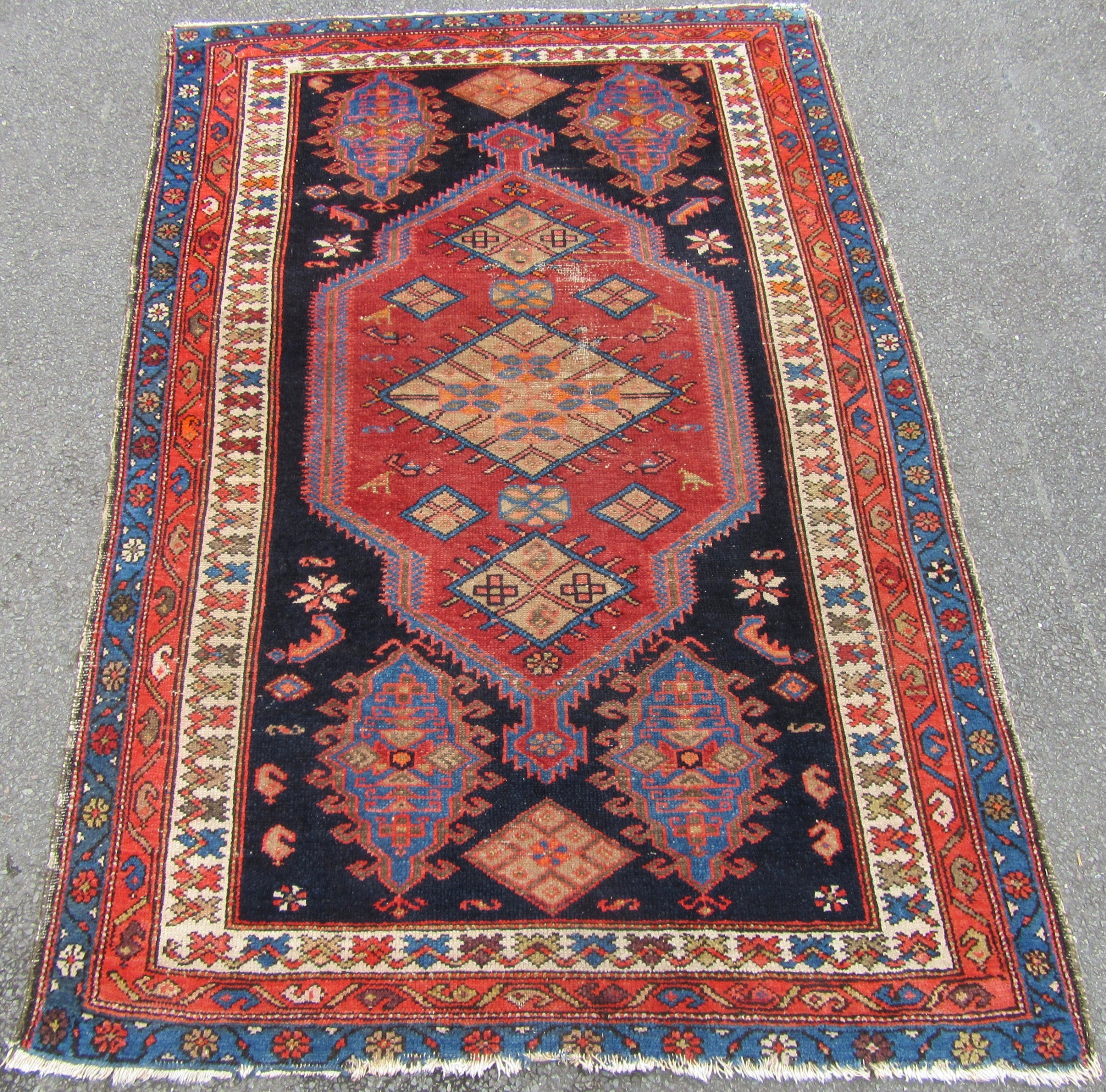attractive country house shabby chic north west persian malayer rug