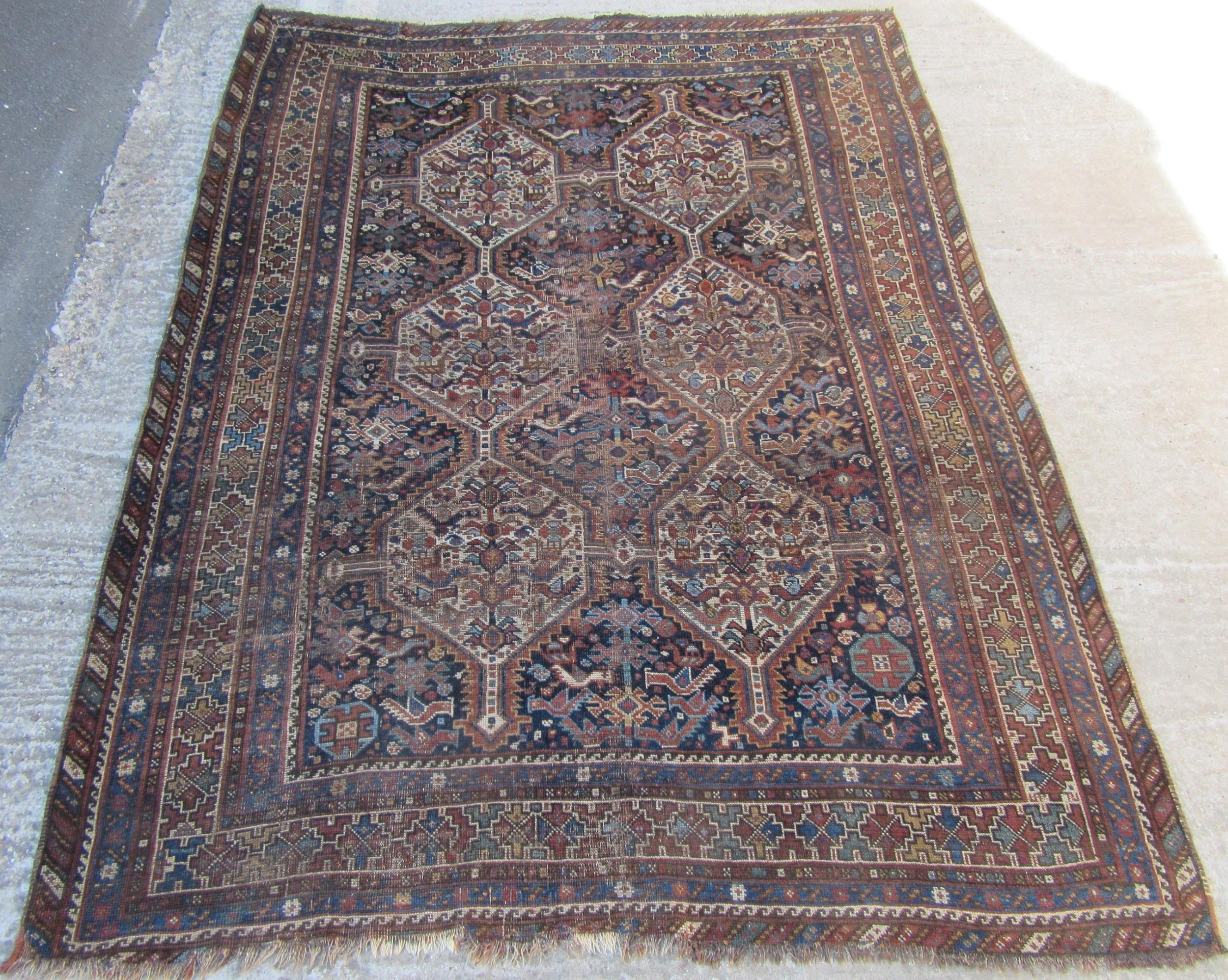 a morghi tribal rug by the baharlu taifeh of the khamseh confederacy fars south west persian khamseh rug