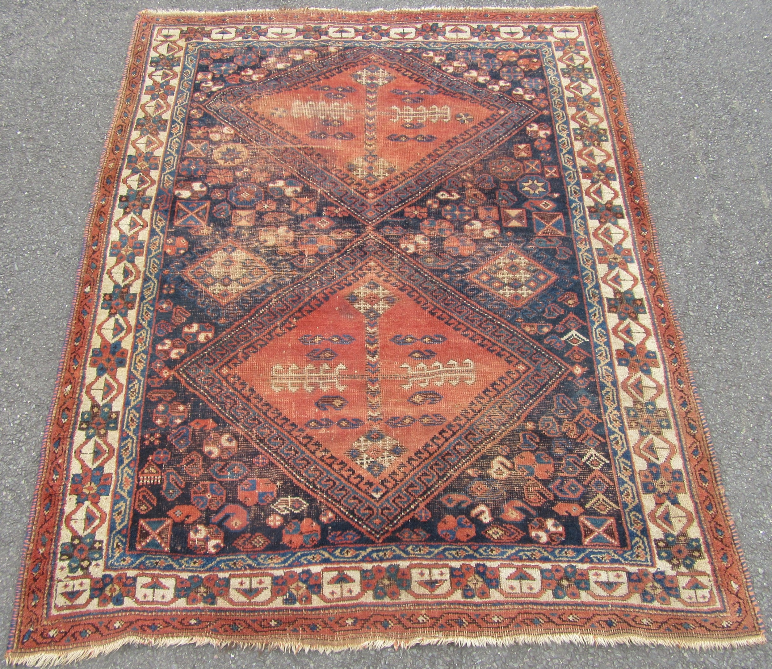 antique country house shabby chic persian afshar rug
