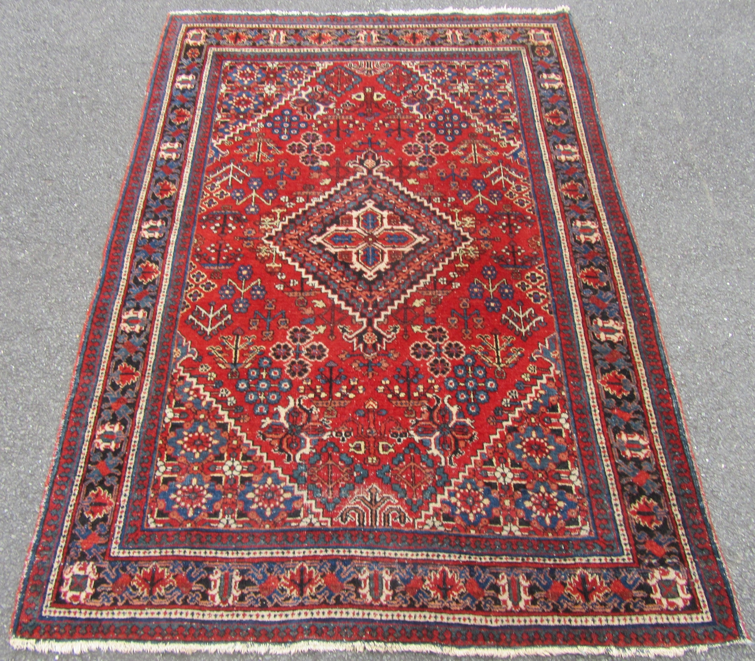 antique country house persian joshagan joshegan rug vibrant colours