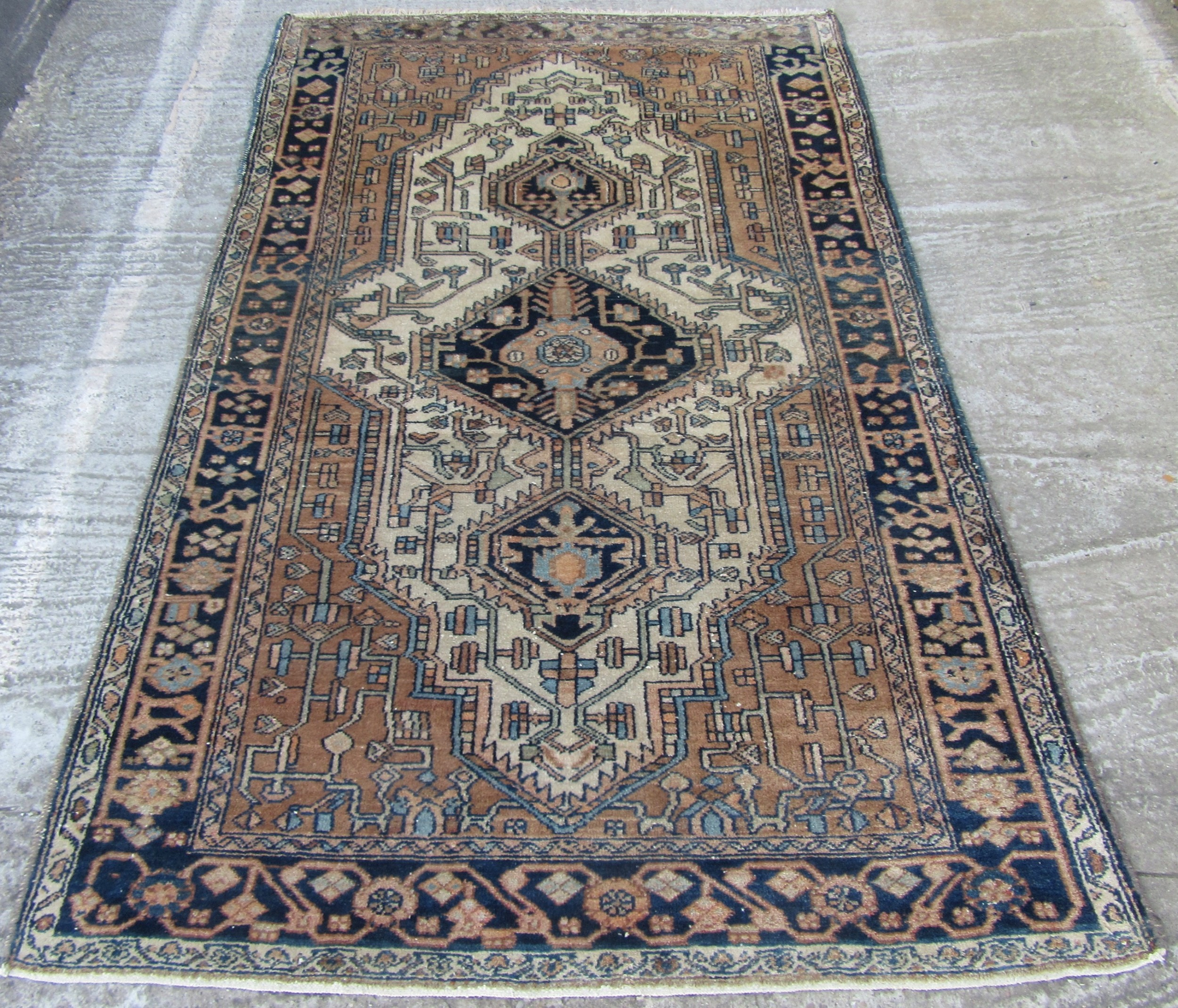antique rustic looking persian hamadan rug persian kurdistan rug