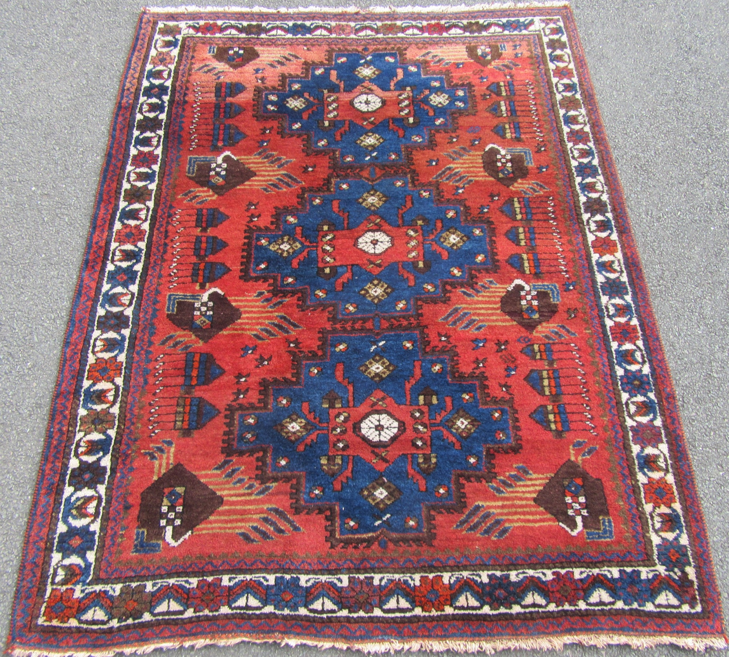 antique south west persian afshar rug wonderful full pile