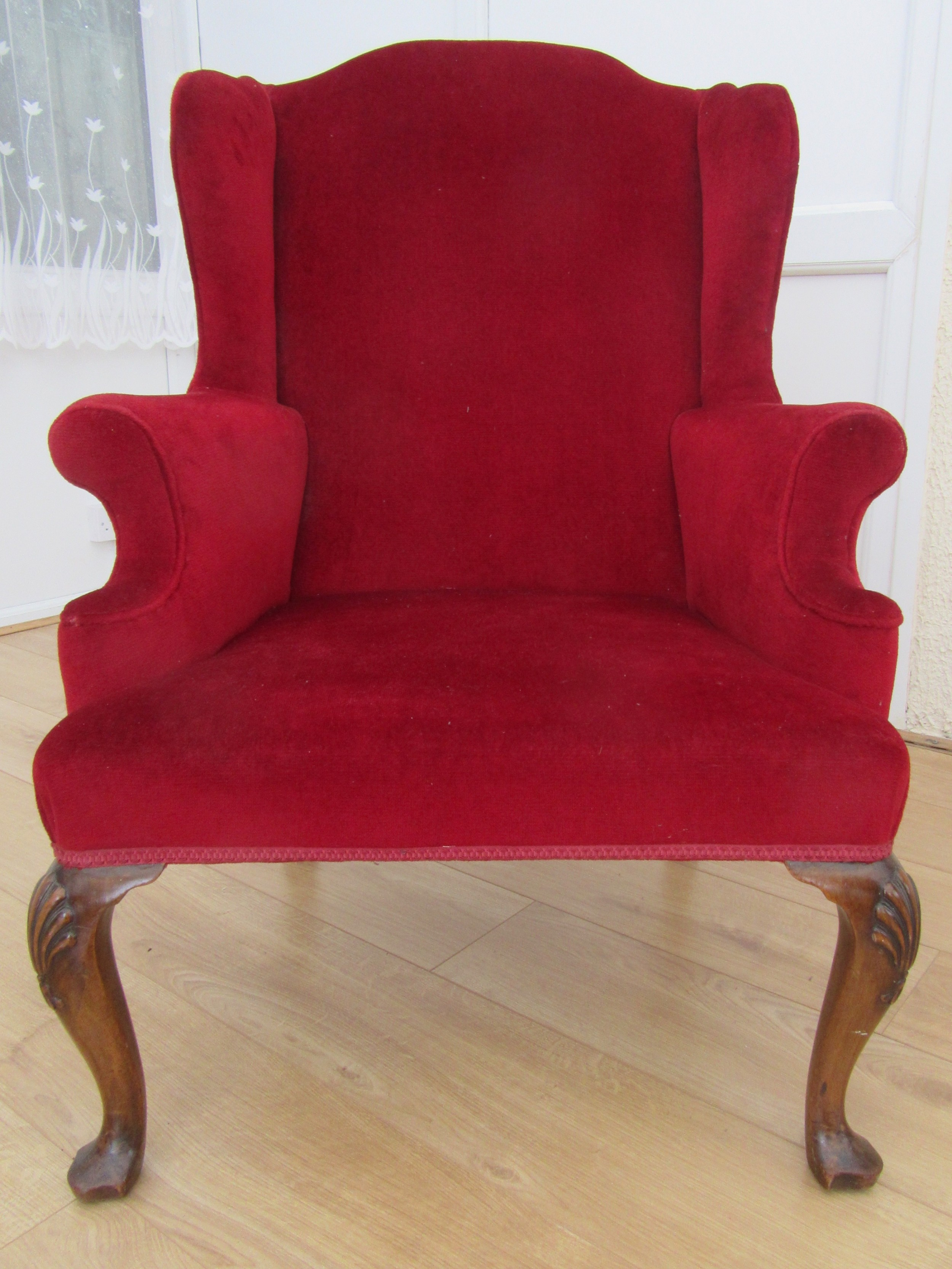 early 20th century in george ii style mahogany wing armchair graceful proportions