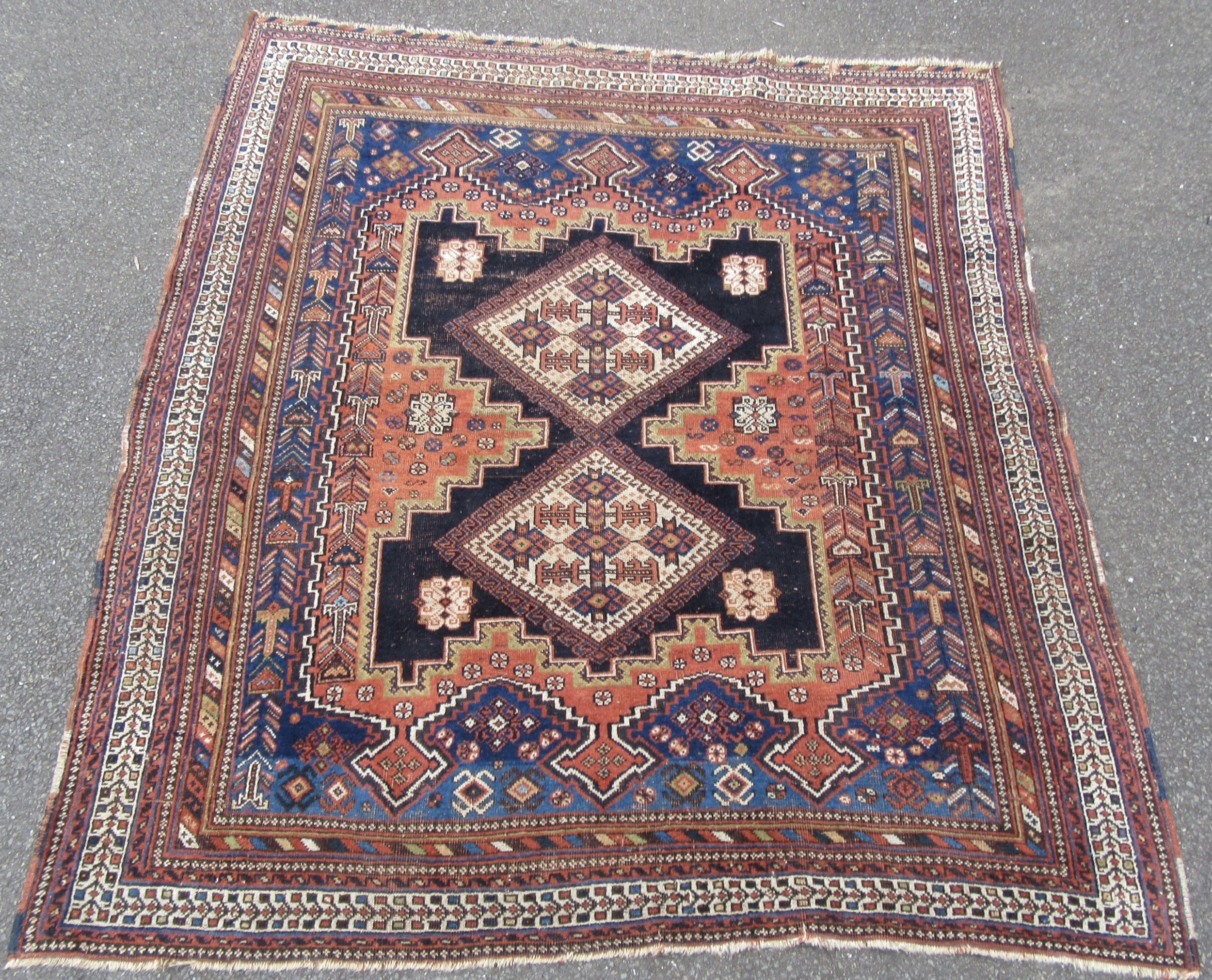 delightful antique south west persian afshar tribal rug circa 1900