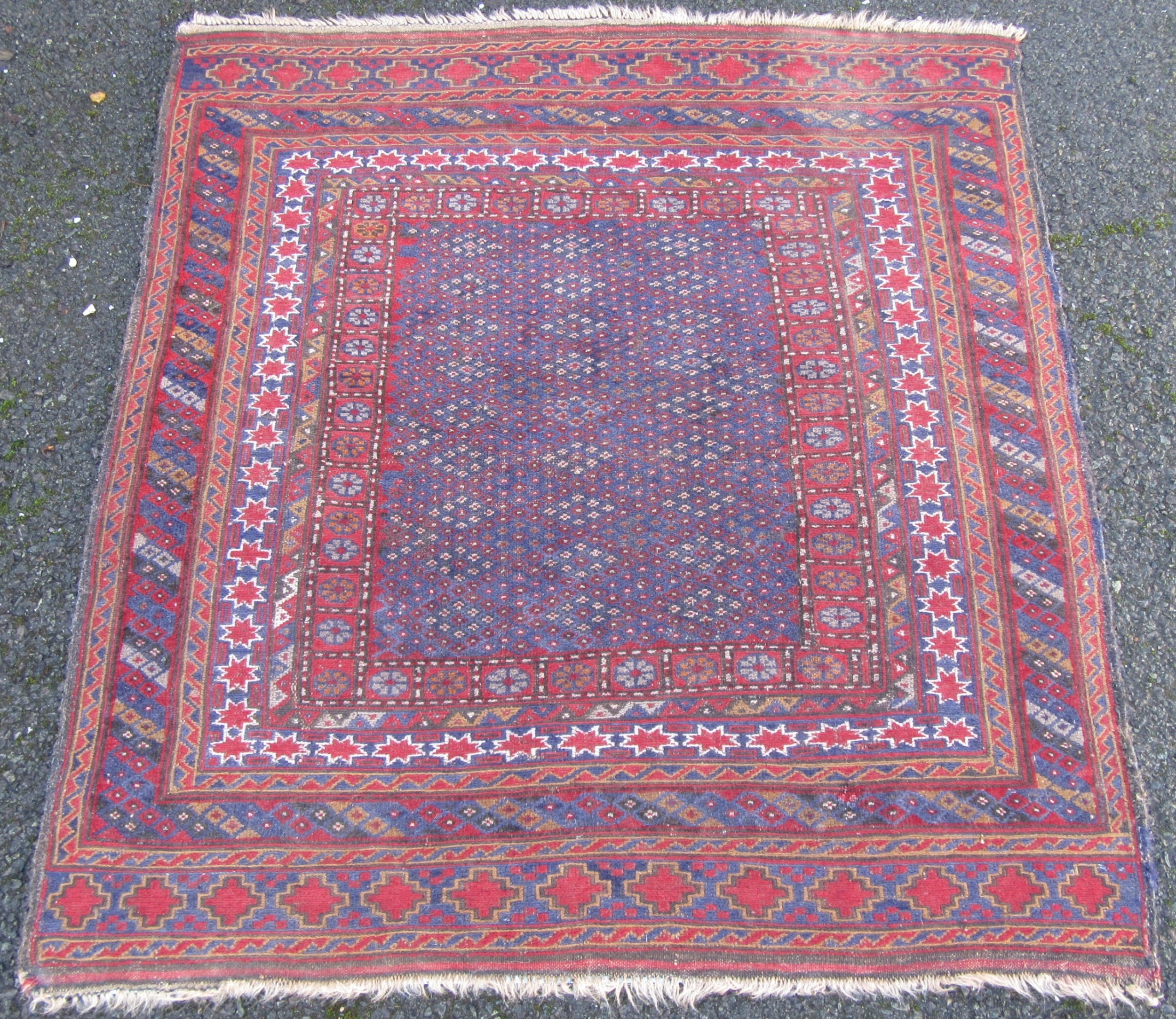 unusual antique south west persian afshar tribal soumak flat weave technique rug