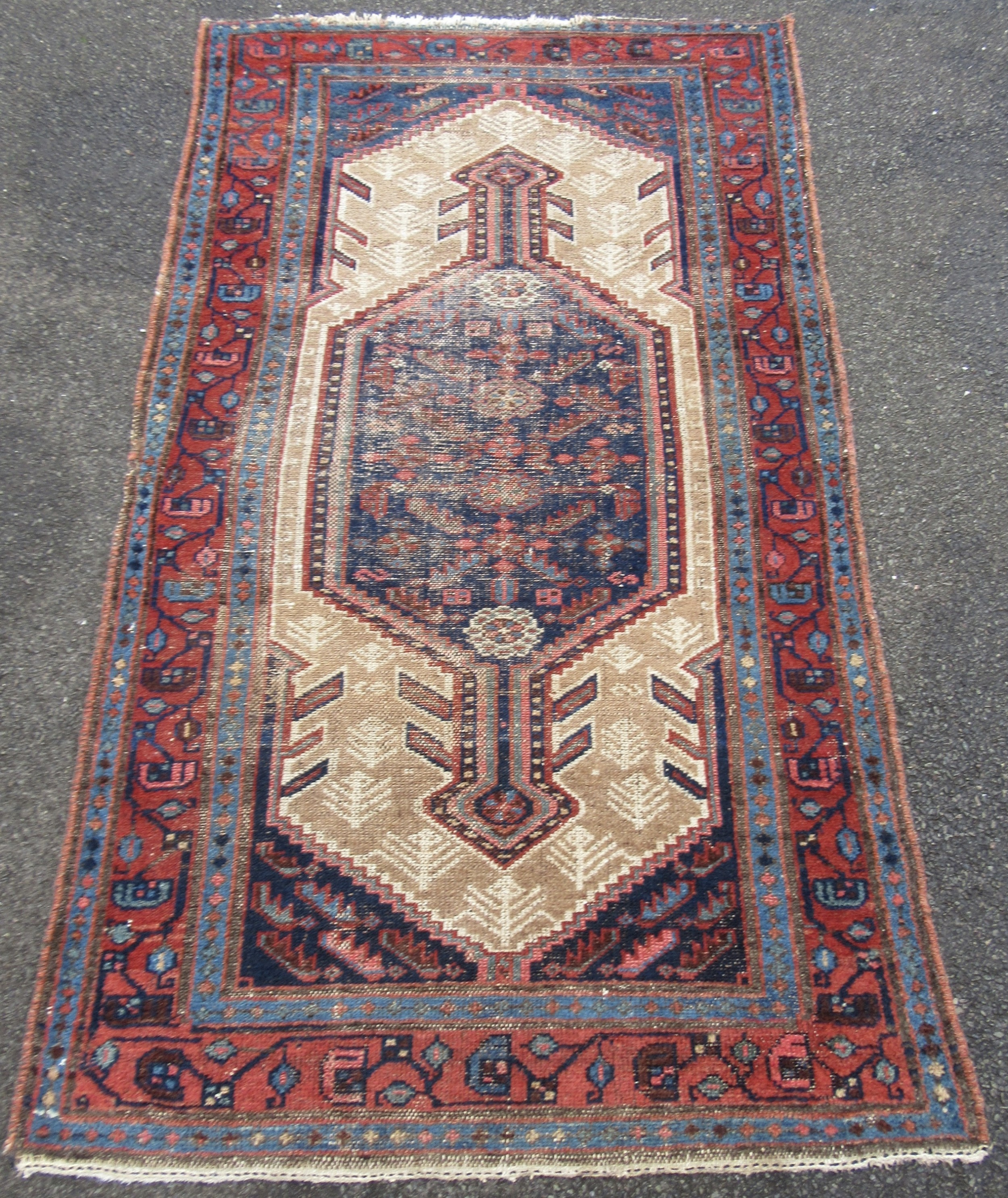 antique country house shabby chic north west persian sarab rug