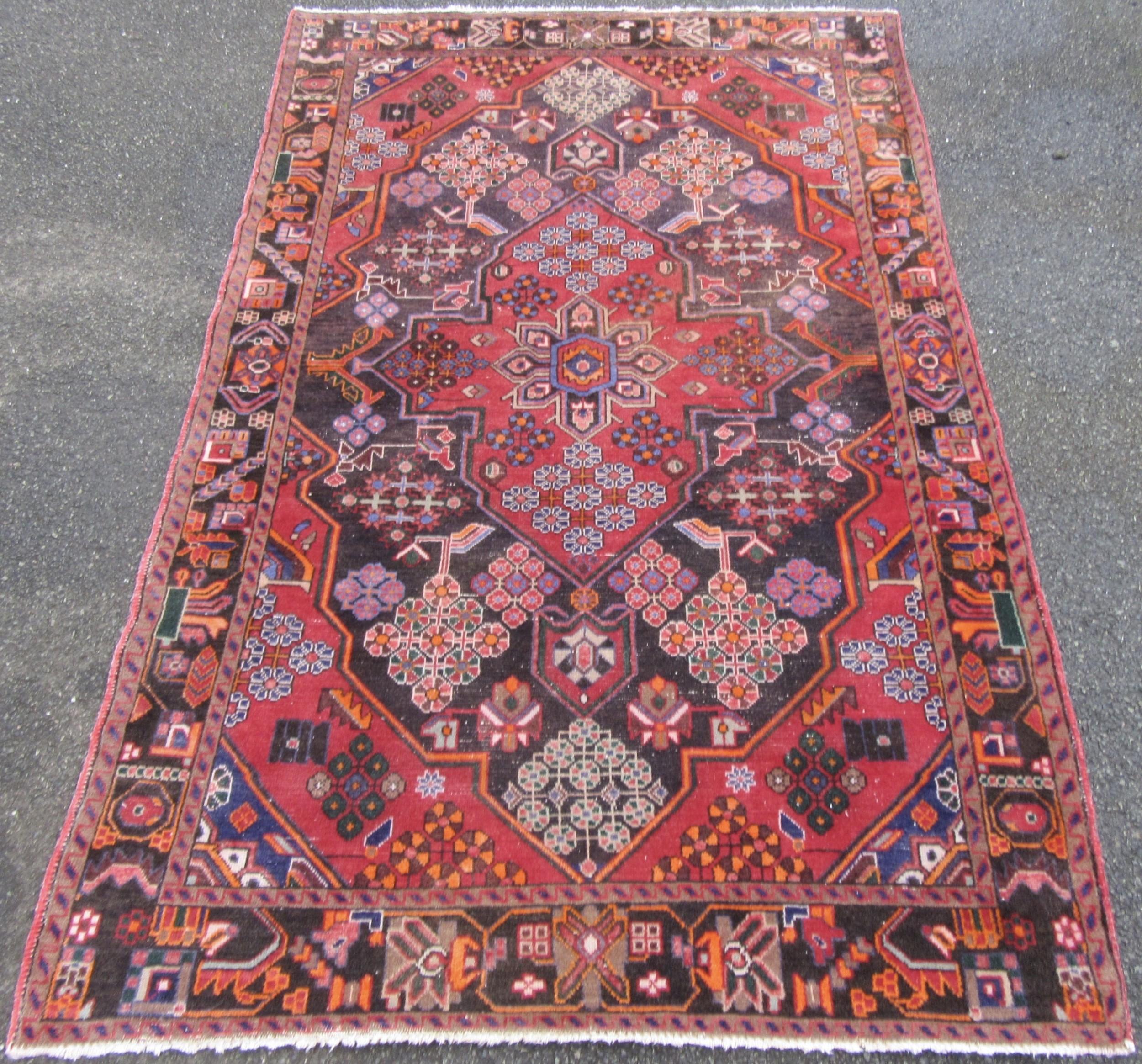 unusual appearance antique persian kurdish bakhtiari tribal rug carpet