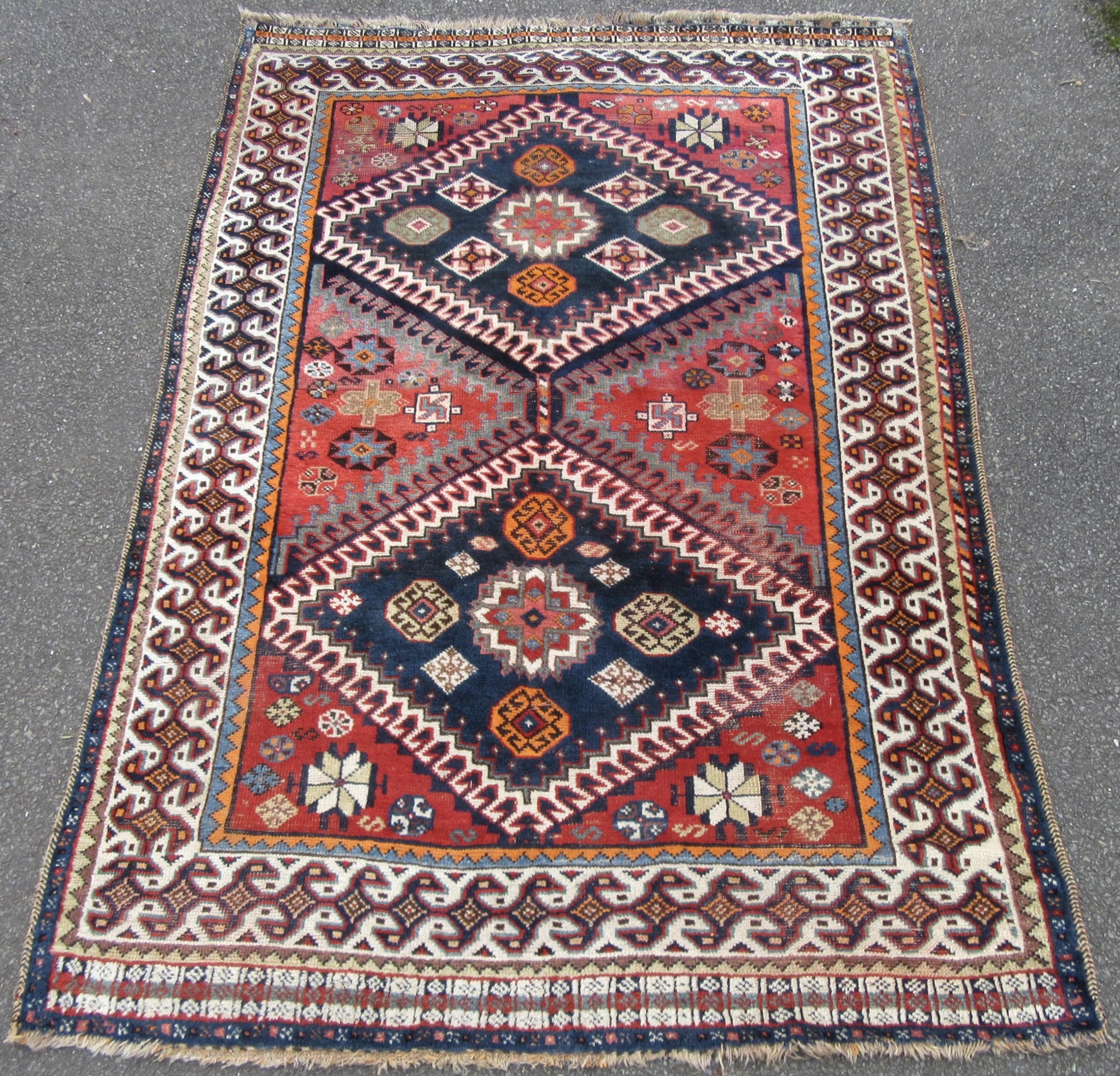 unusual antique south west persian fars shiraz region qashqai tribal rug