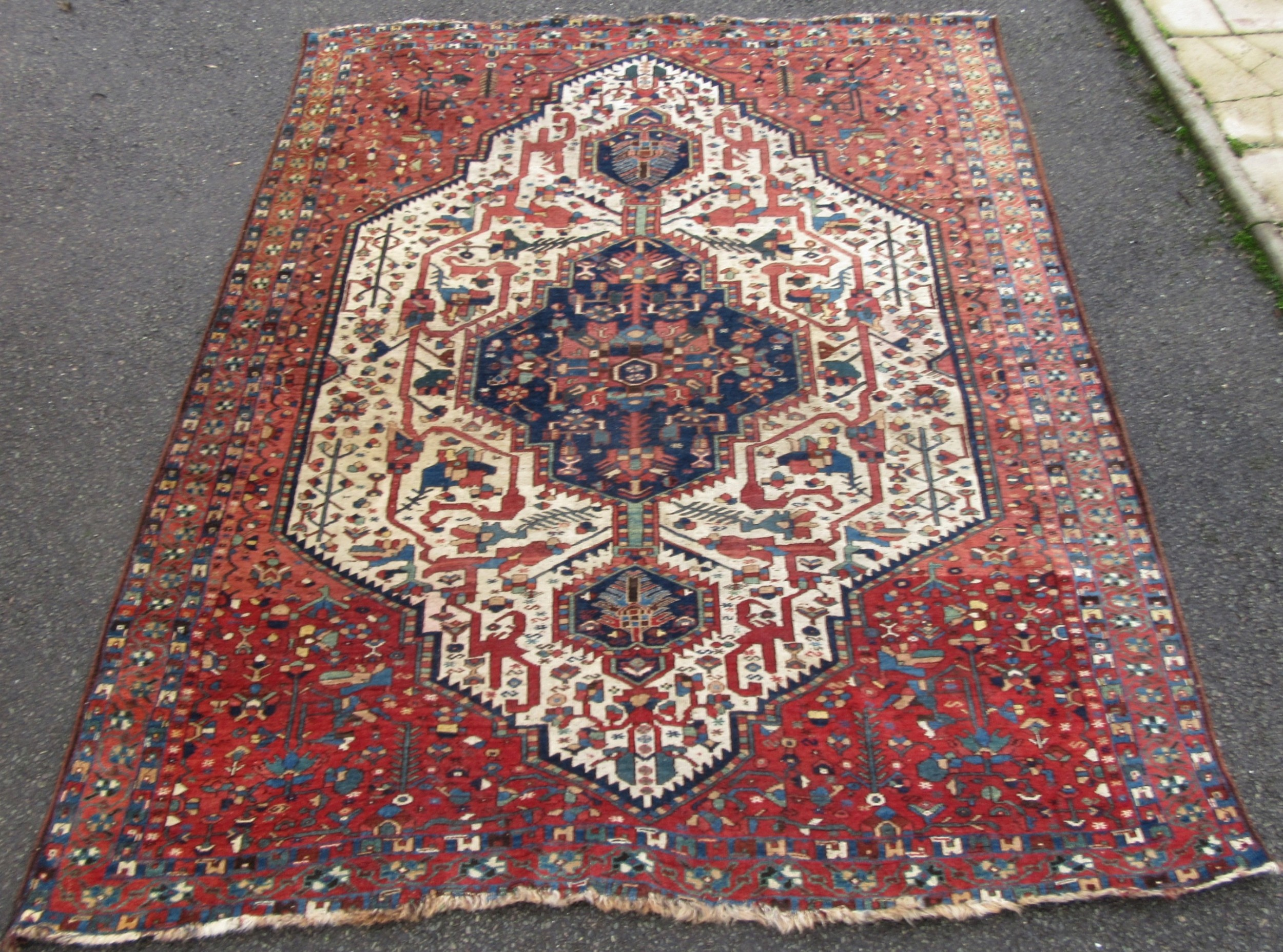 beautiful antique south west persian afshar niriz neriz tribal rug carpet