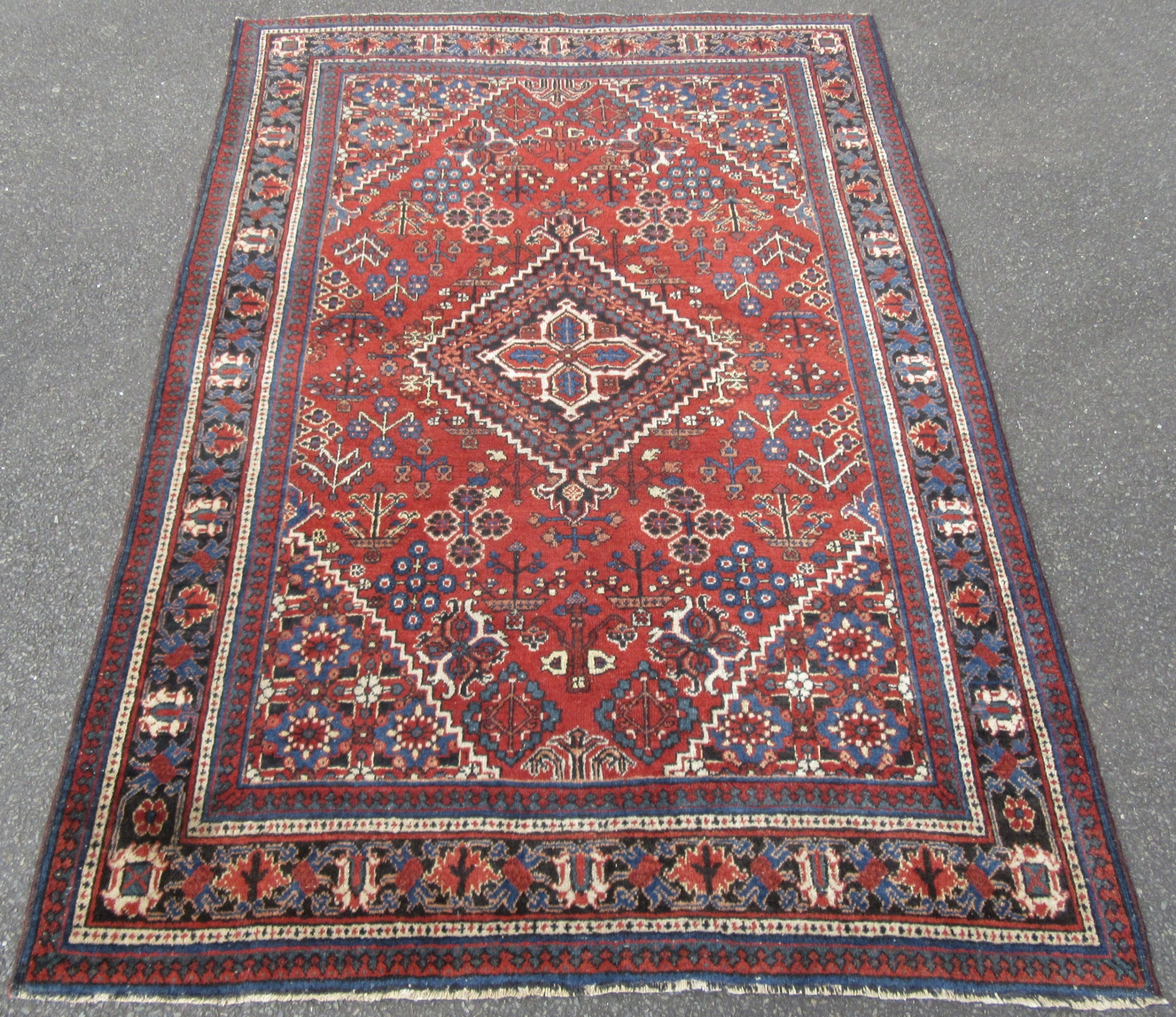antique country house persian joshegan kashan rug velvety wool pile