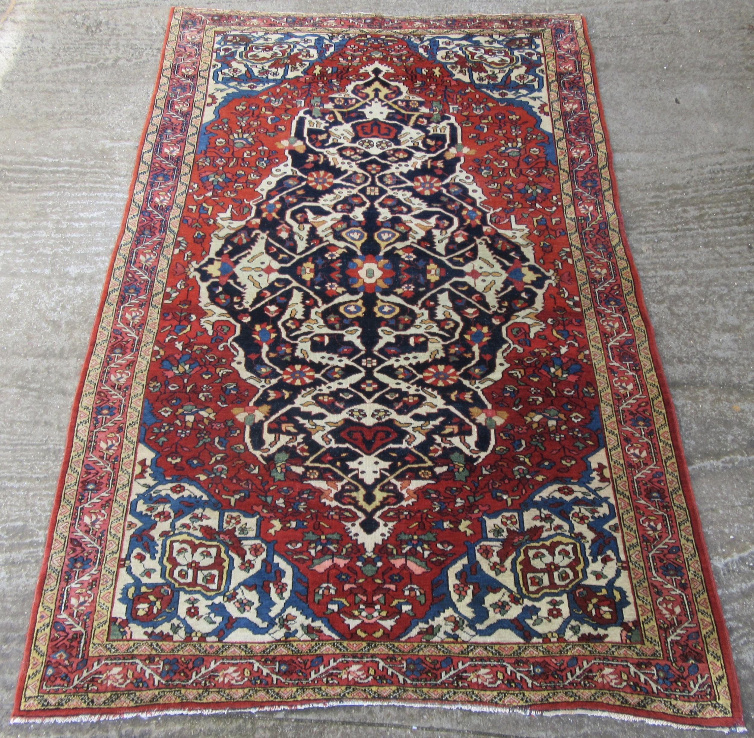 stunning antique persian kurdish bakhtiari tribal rug