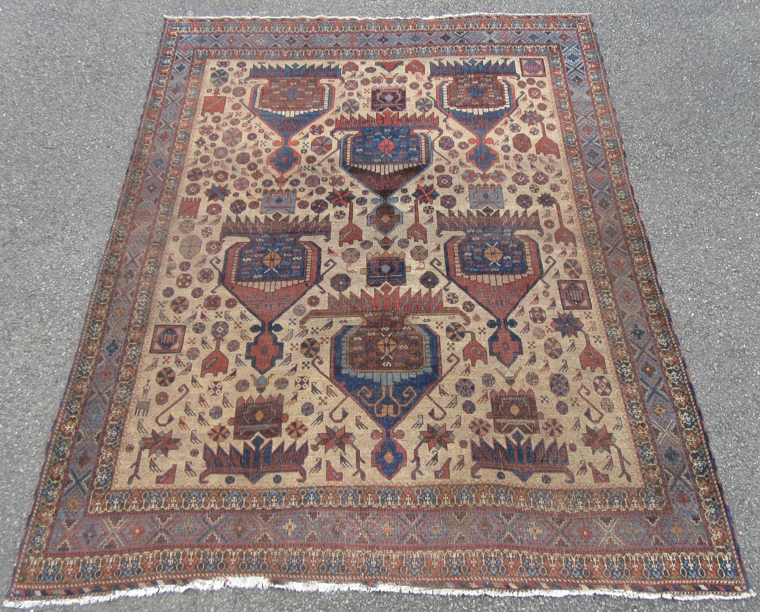 rare collectors antique south west persian afshar tribal rug 3rd quarter 19th century 18501875