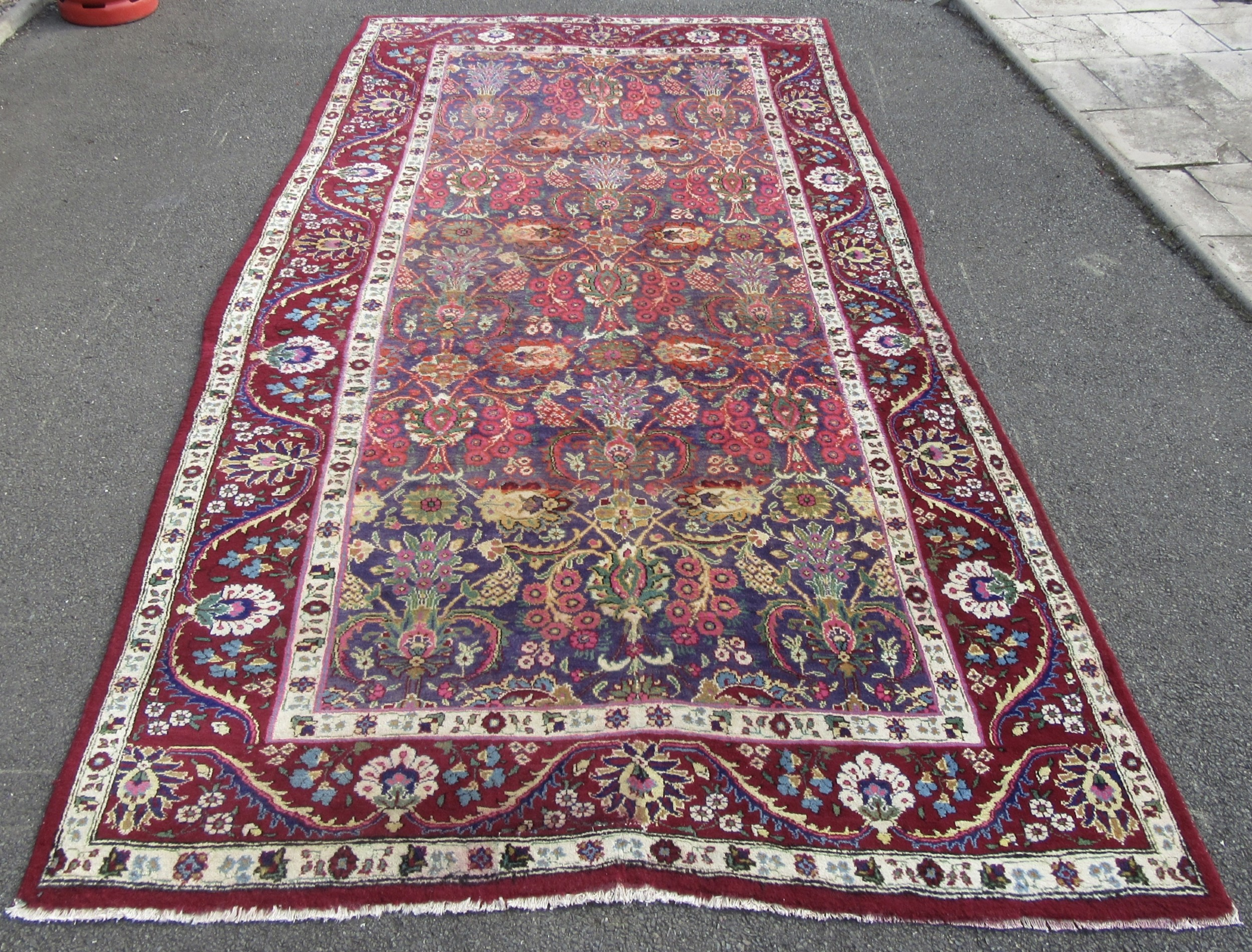 unusual antique country house shabby chic indo persian kerman carpet large rug indian carpet fabulous colours