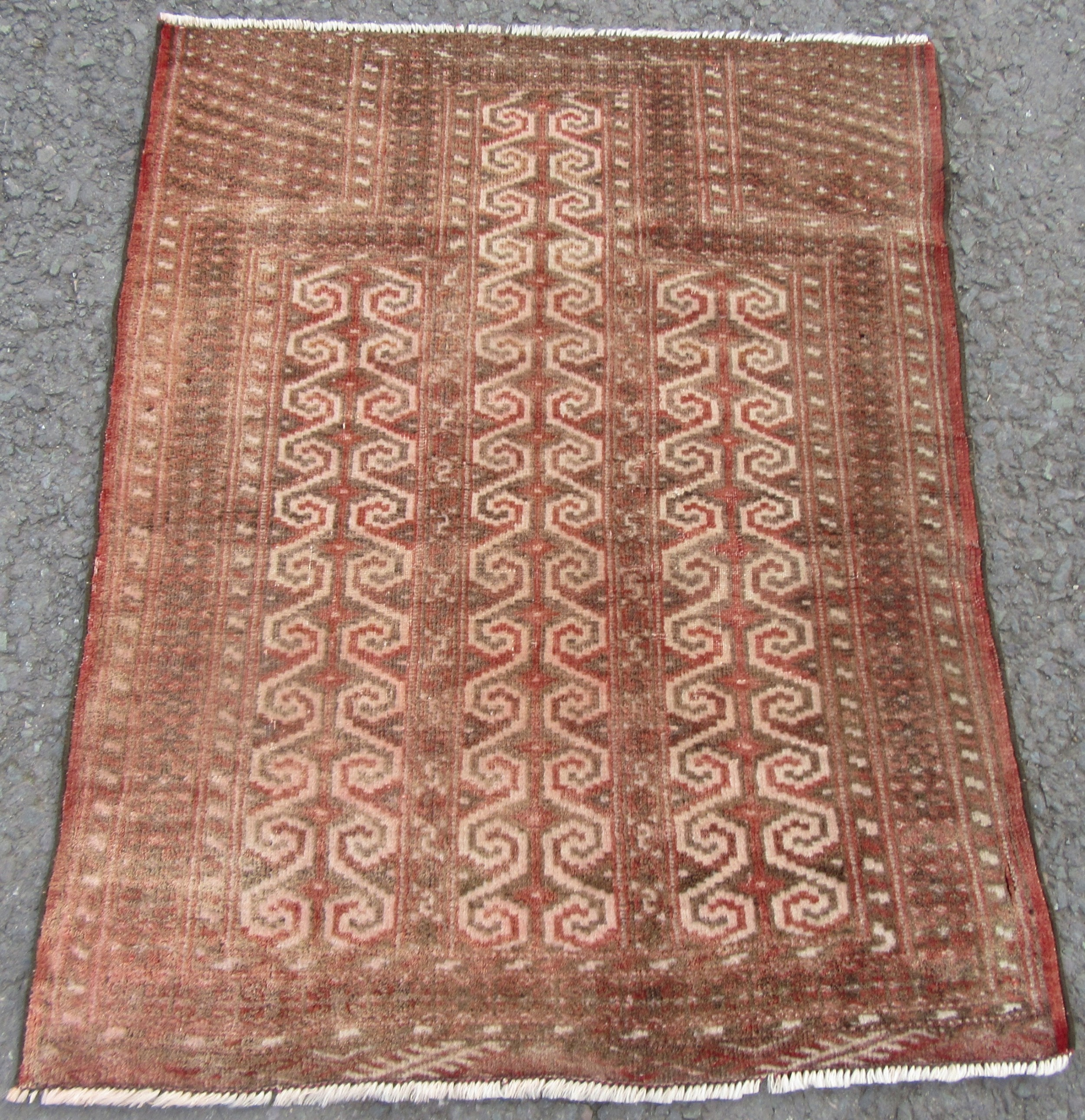 small cute antique afghan tekke turkmen yomut prayer rug 105cm x 84cm