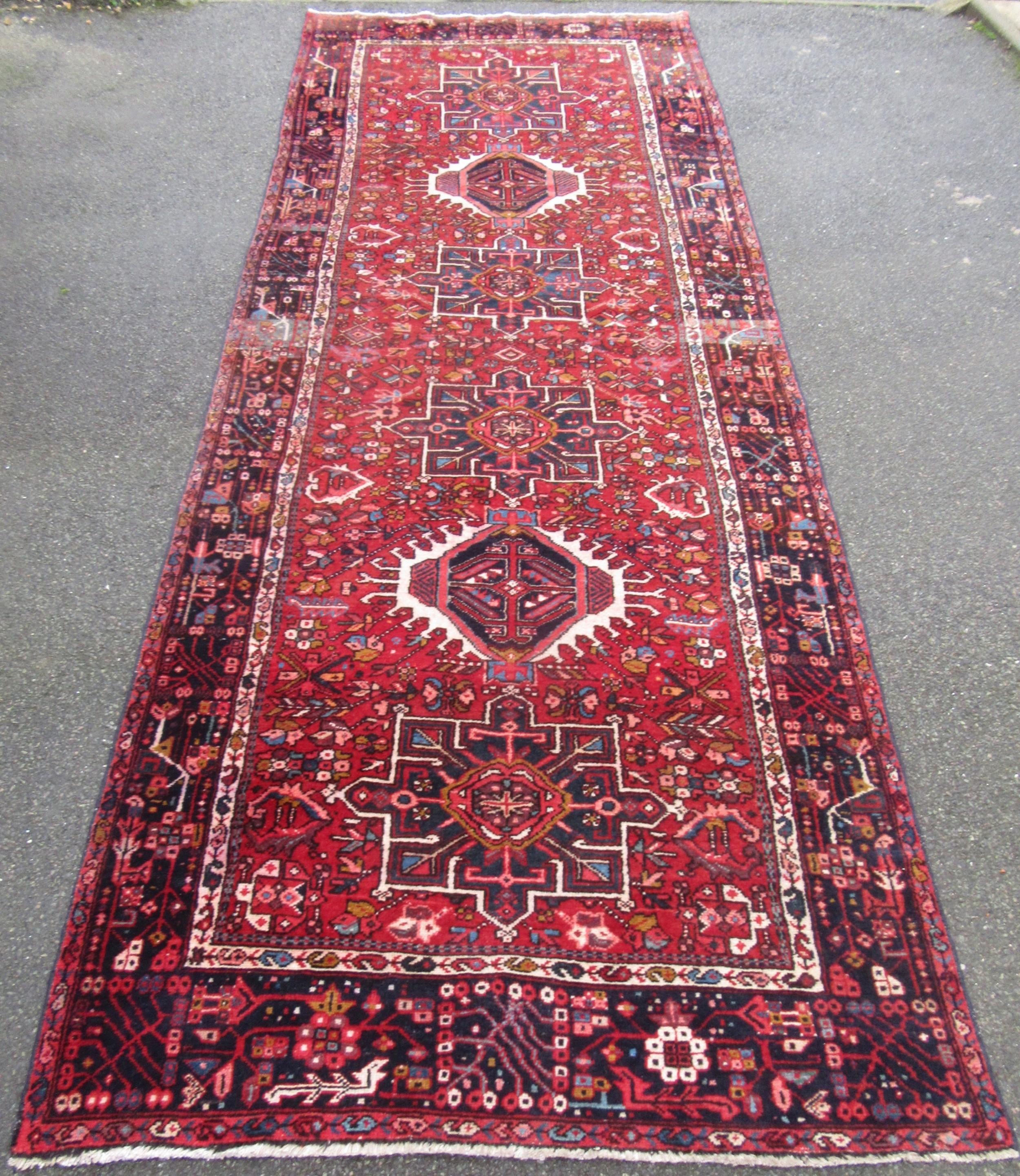 antique karaja heriz gallery kelleh carpet large long rug