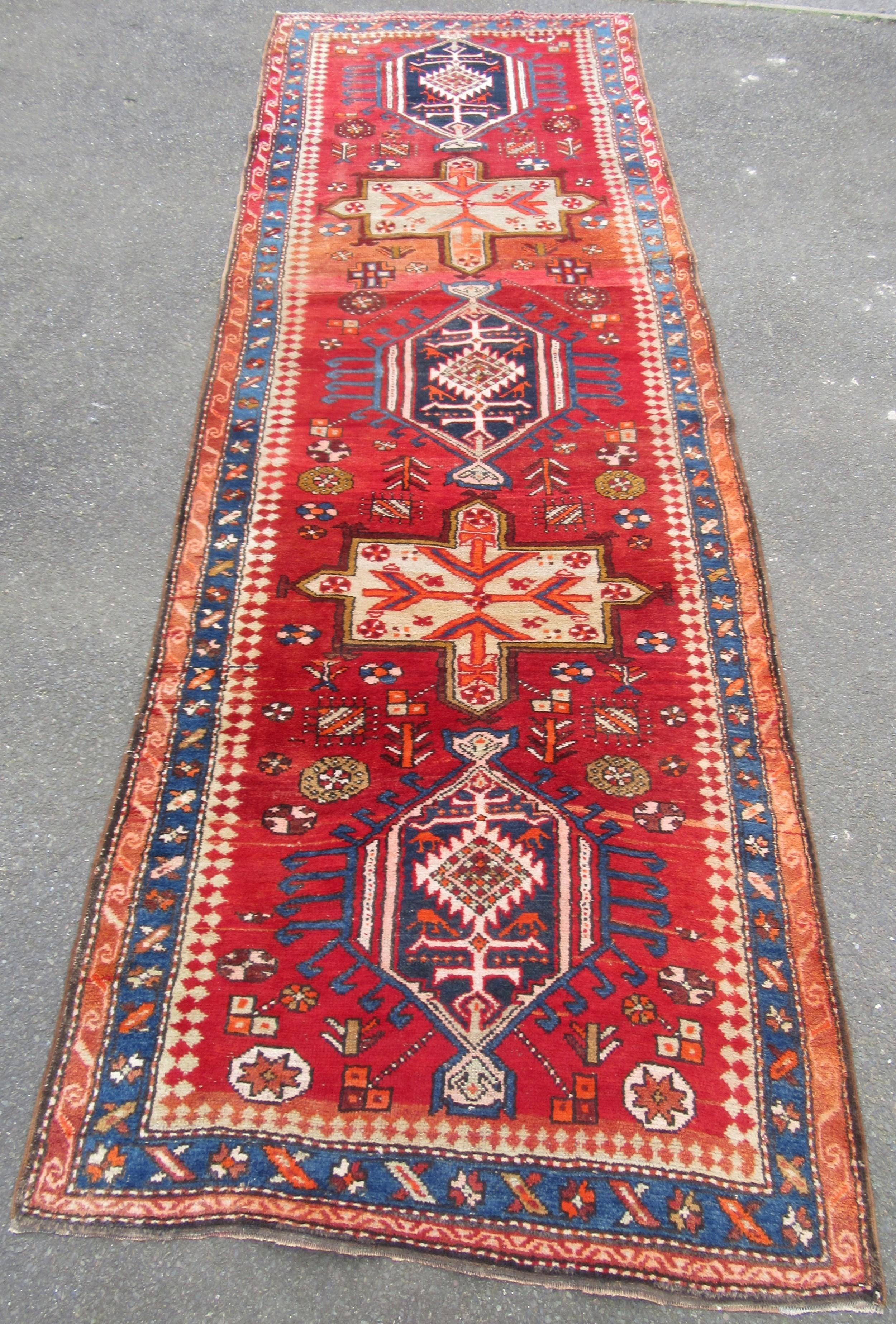 antique persian heriz karaja long rug runner carpet