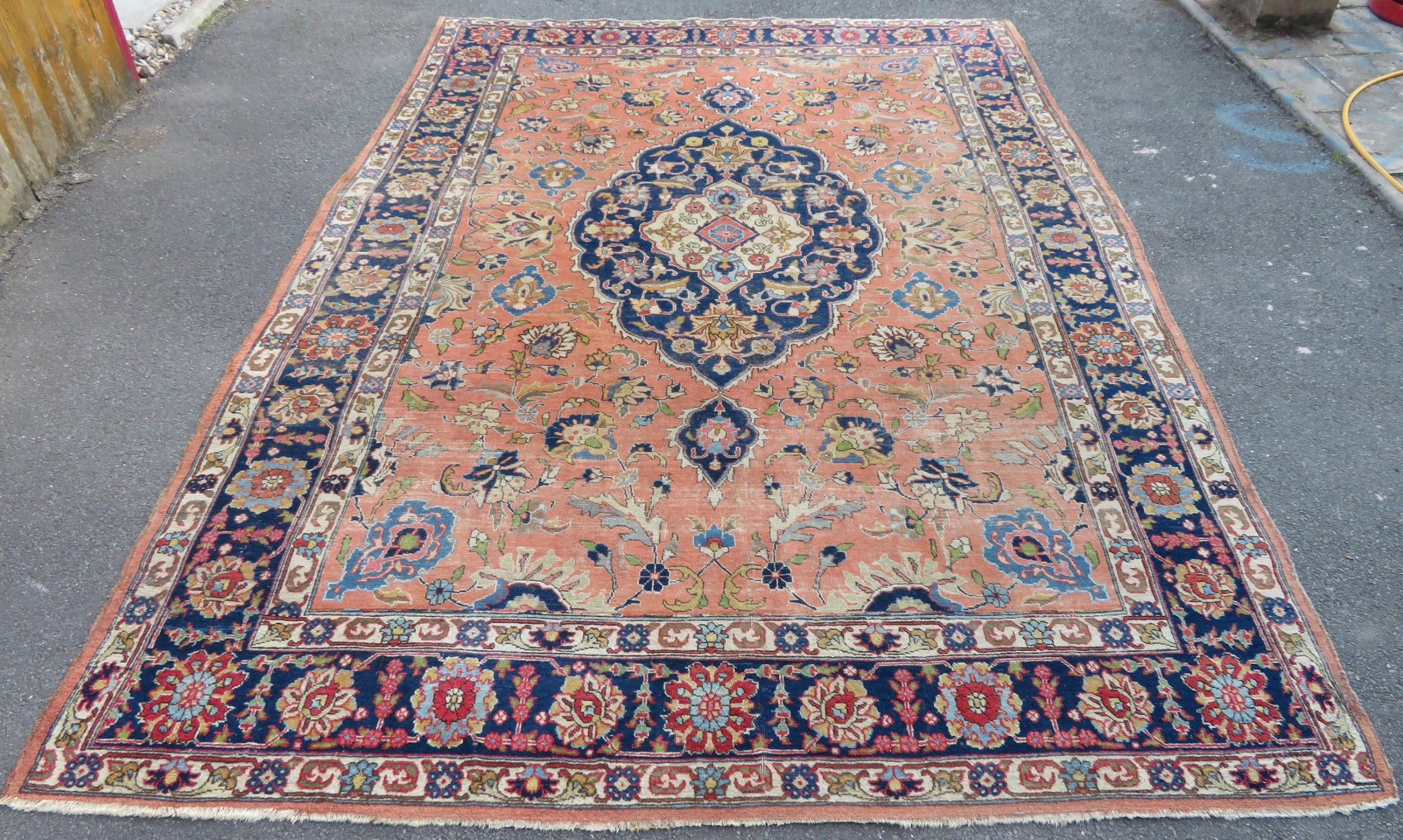 antique country house shabby chic north west persian tabriz carpet large rug 317cm x 232cm room size