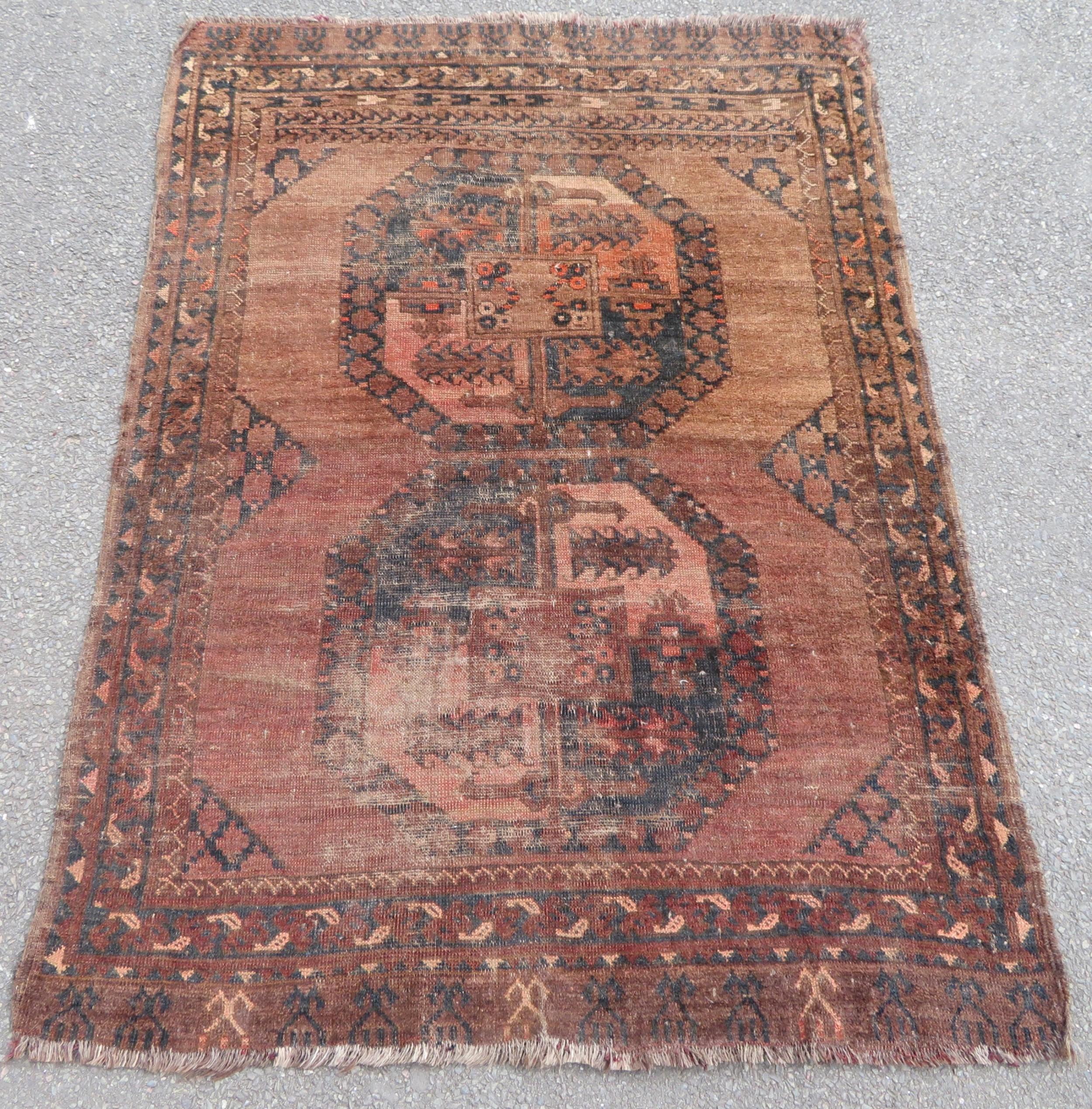 antique country house shabby chic afghan ersari turkmen rug