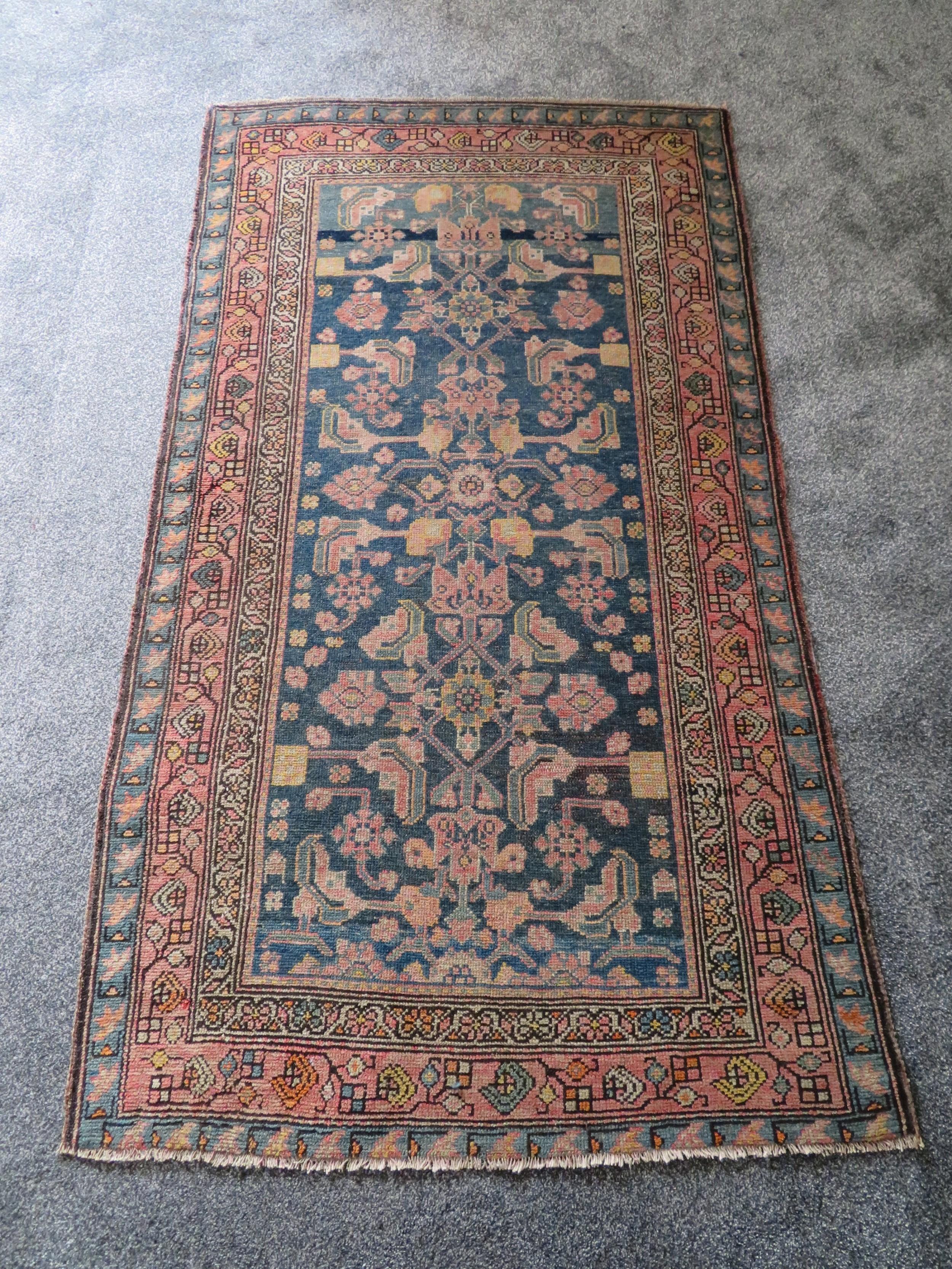 antique country house shabby chic persian hamadan rug subtle colours palette