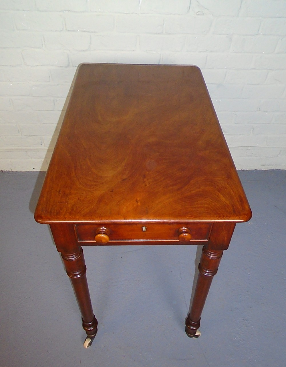 victorian mahogany hall or side table