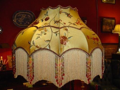 art deco standard lamp handmade silk shade photo angle 2. Black Bedroom Furniture Sets. Home Design Ideas