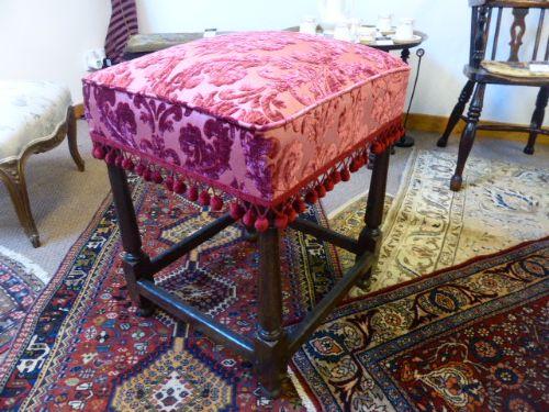 late 17th century upholstered joynt stool
