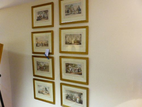 set of 8 framed dr syntax rowlandson prints