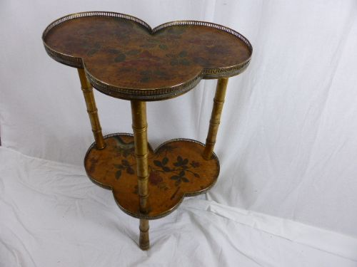 interesting and unusual trefoil table 19th c