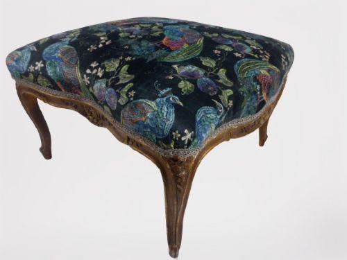 elegant large french giltwood lounge stool 19th century
