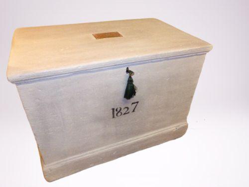 19th century painted seamans chest c 1830