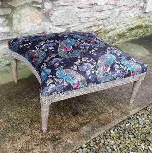 large french upholstered lounge stool c1880