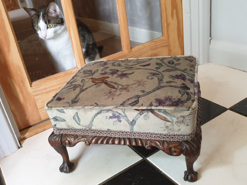 late 18thearly 19th century walnut footstool