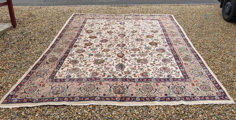 large room size signed antique persian tabriz carpet c1930
