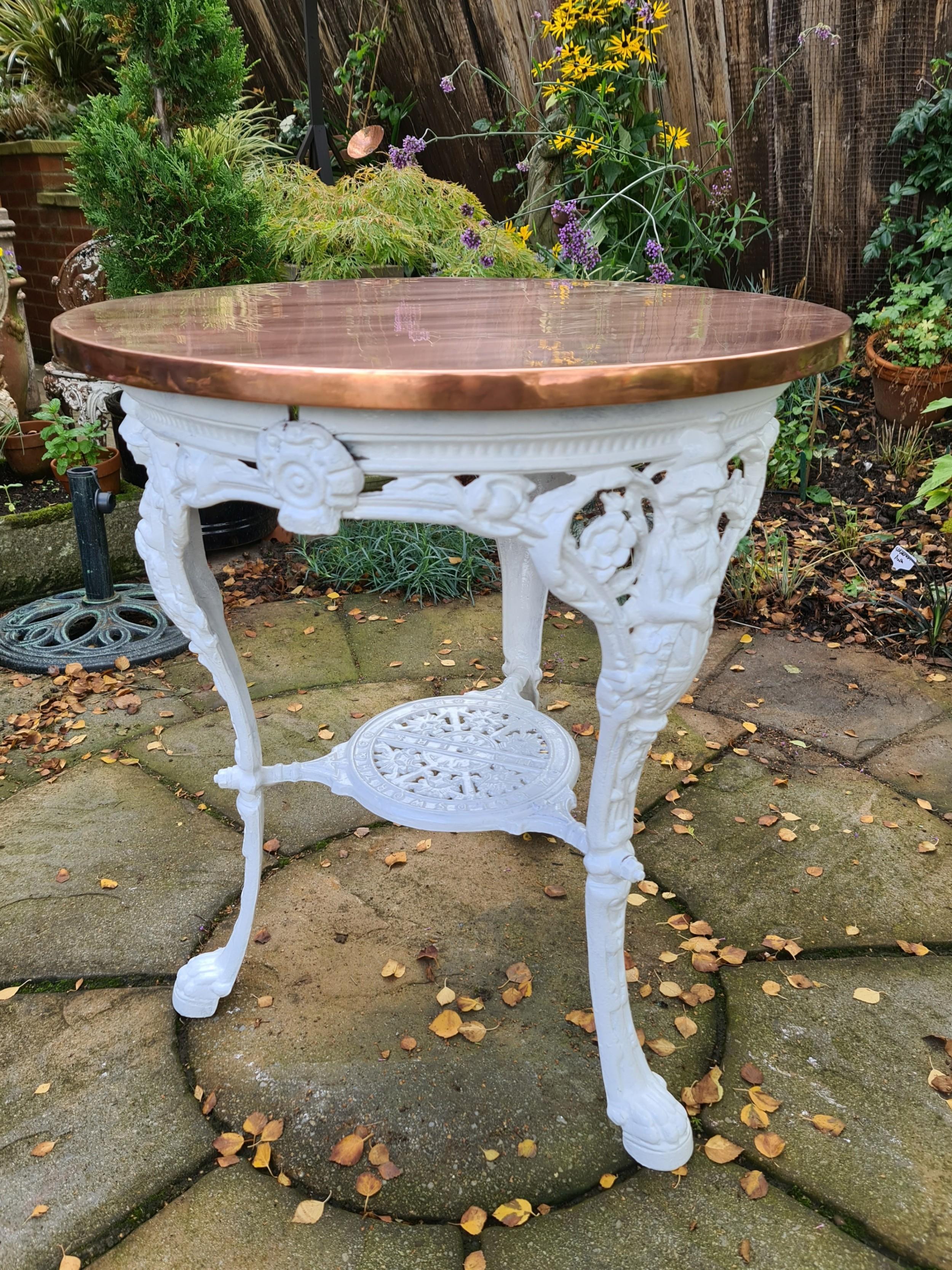 rare abolitionist 19th century copper topped pub table