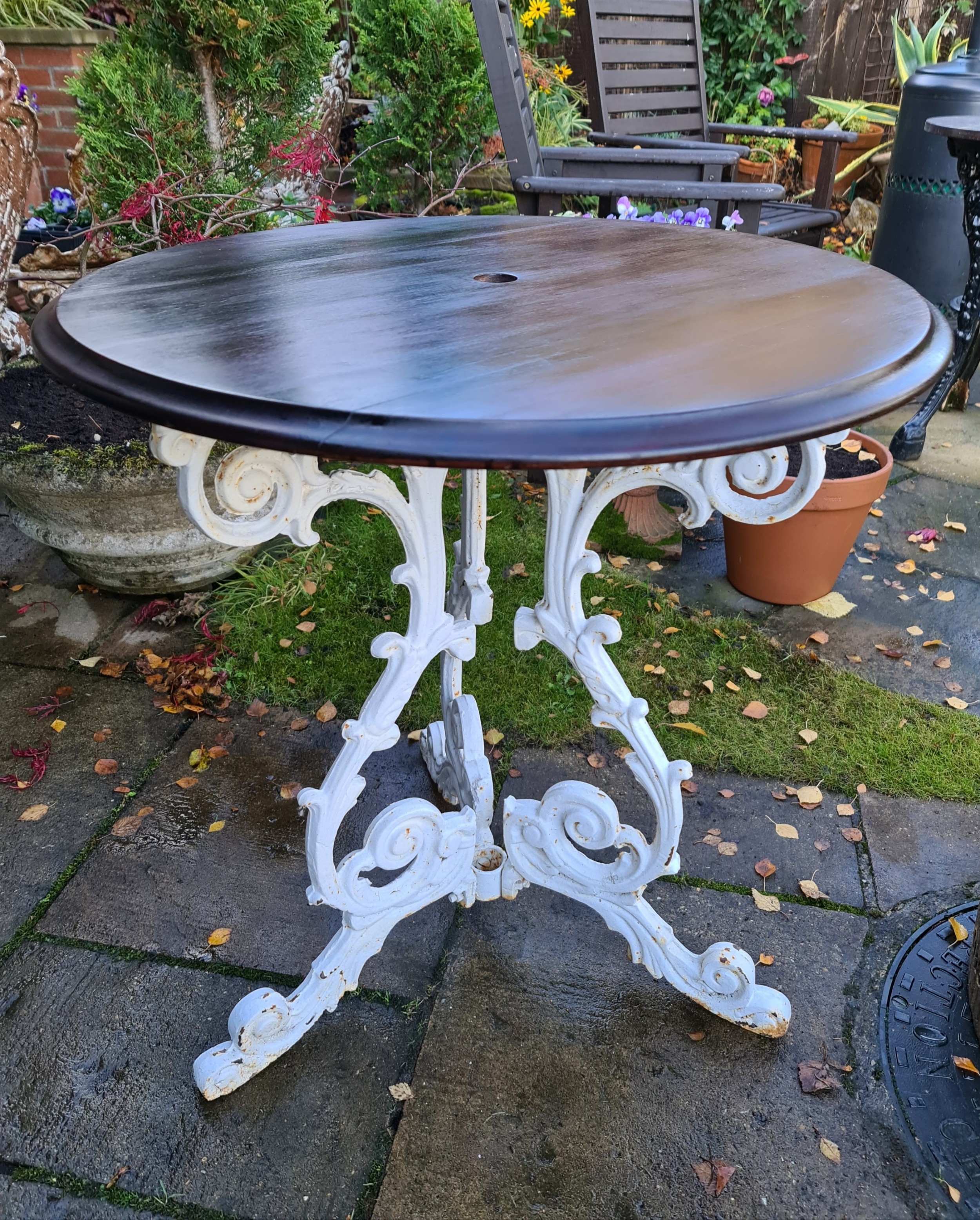 castiron patio or conservatory table